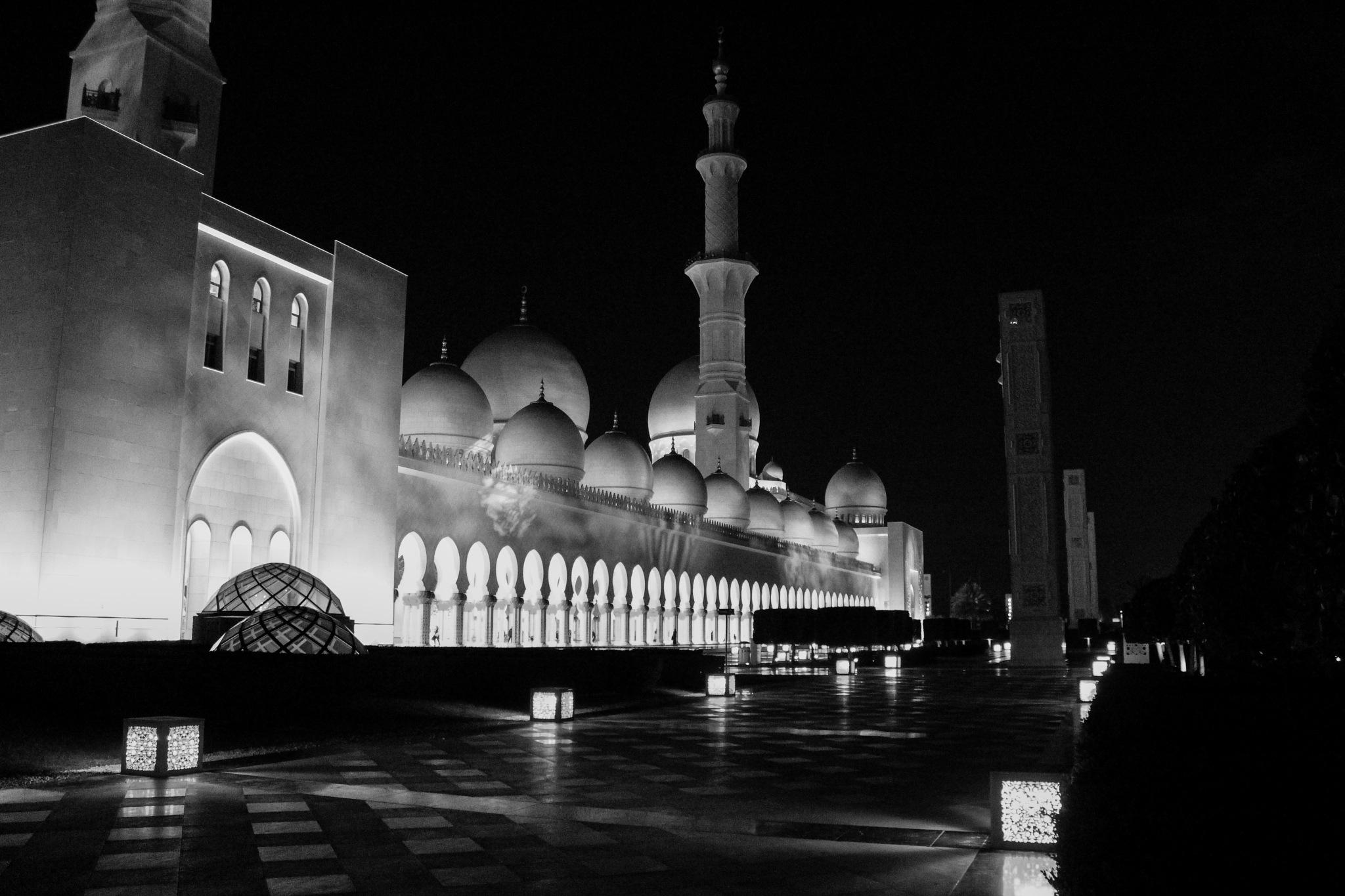A beautiful mosque - Abu Dhabi by Tanveer Bhurani