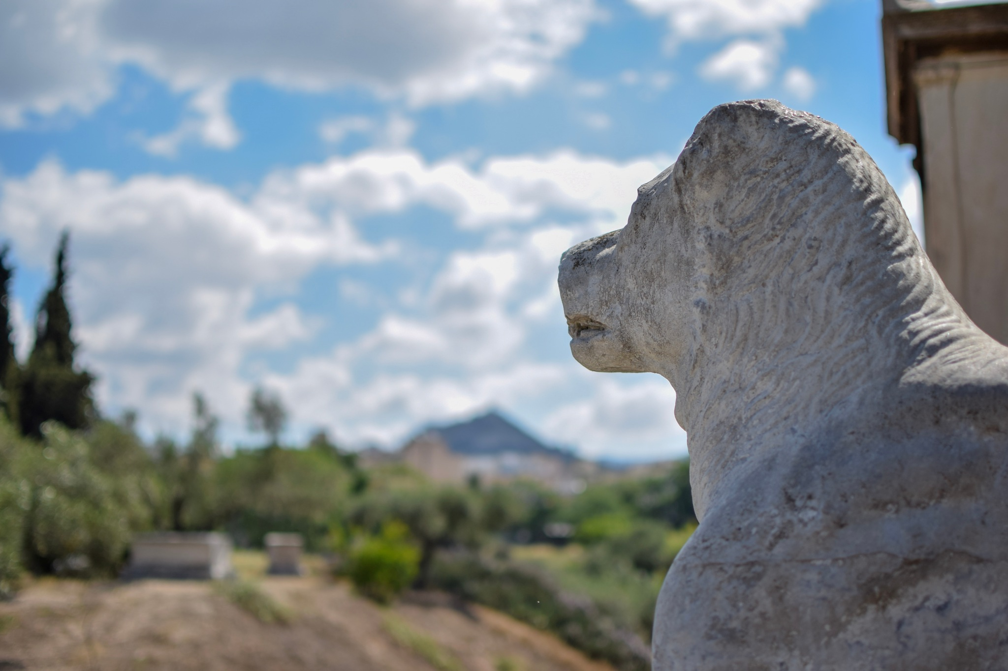 A lion, among the graves... by Jack Pitman