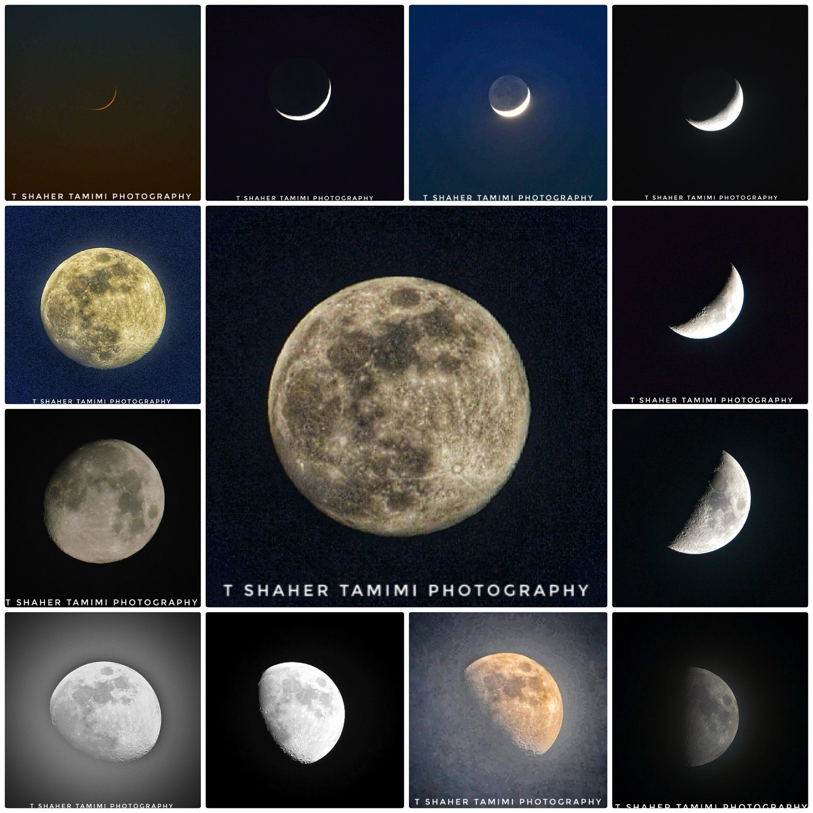 moon from 1 to 13  by shaher tamimi