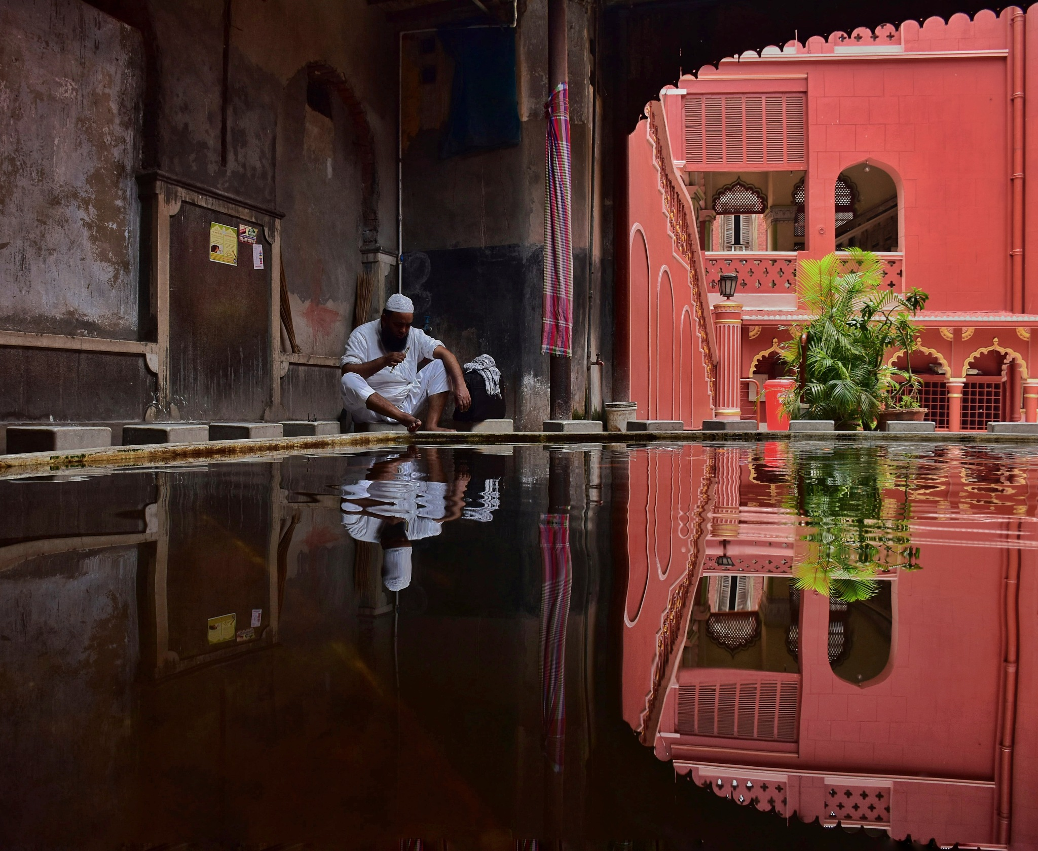 Holy reflection by Pralay Mandal
