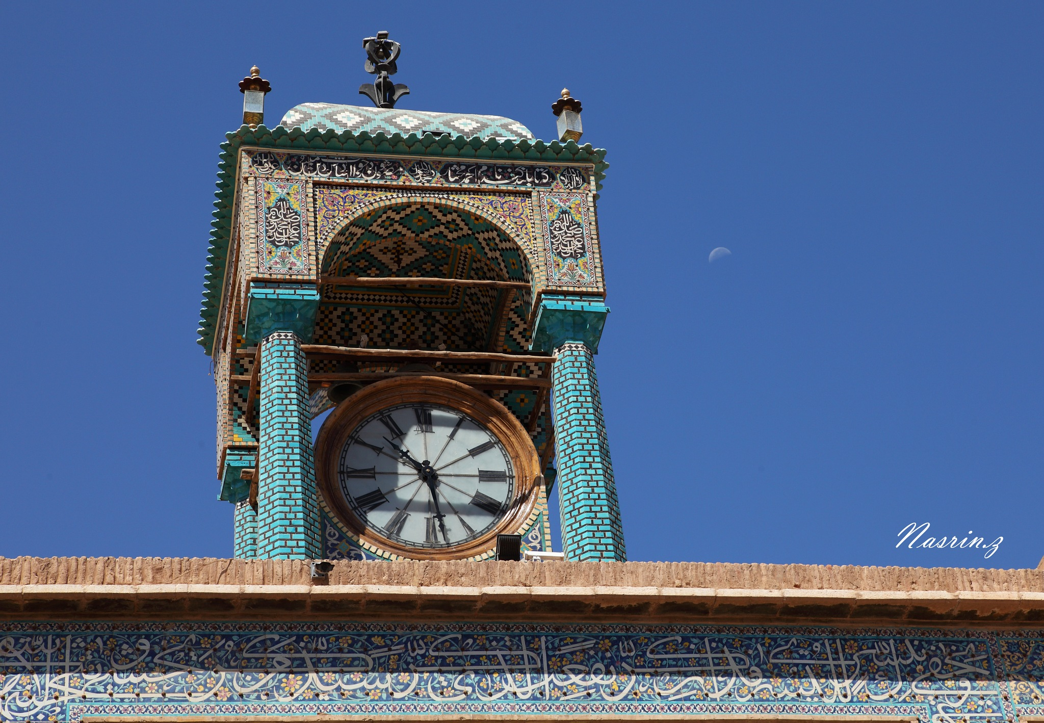 10:30 am with a small moon by Nasrin zeinalizadeh