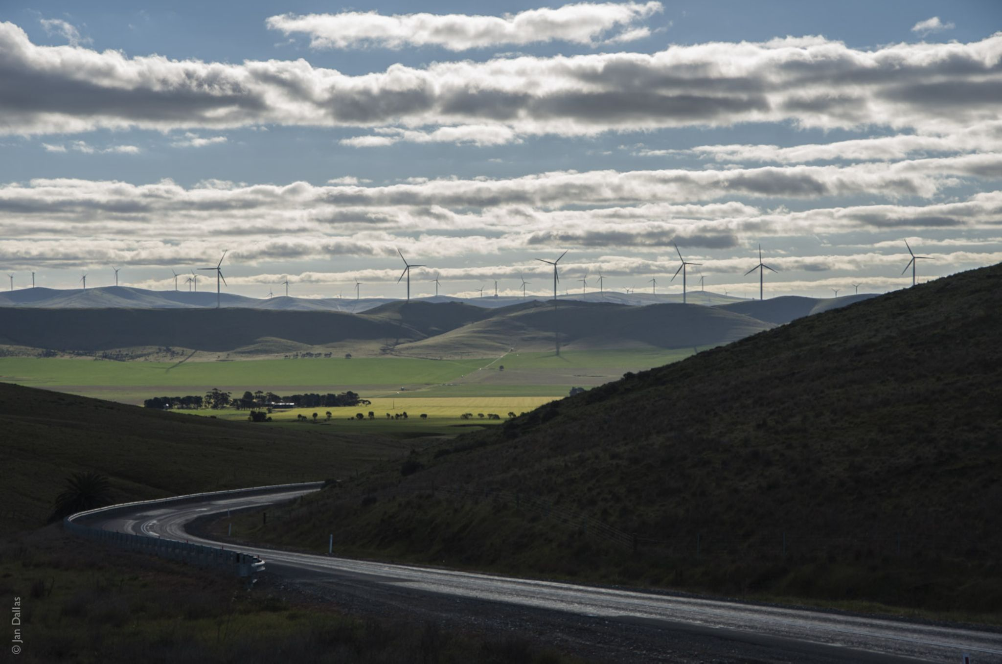 Wind farming, Sth Australia. by Jan Dallas