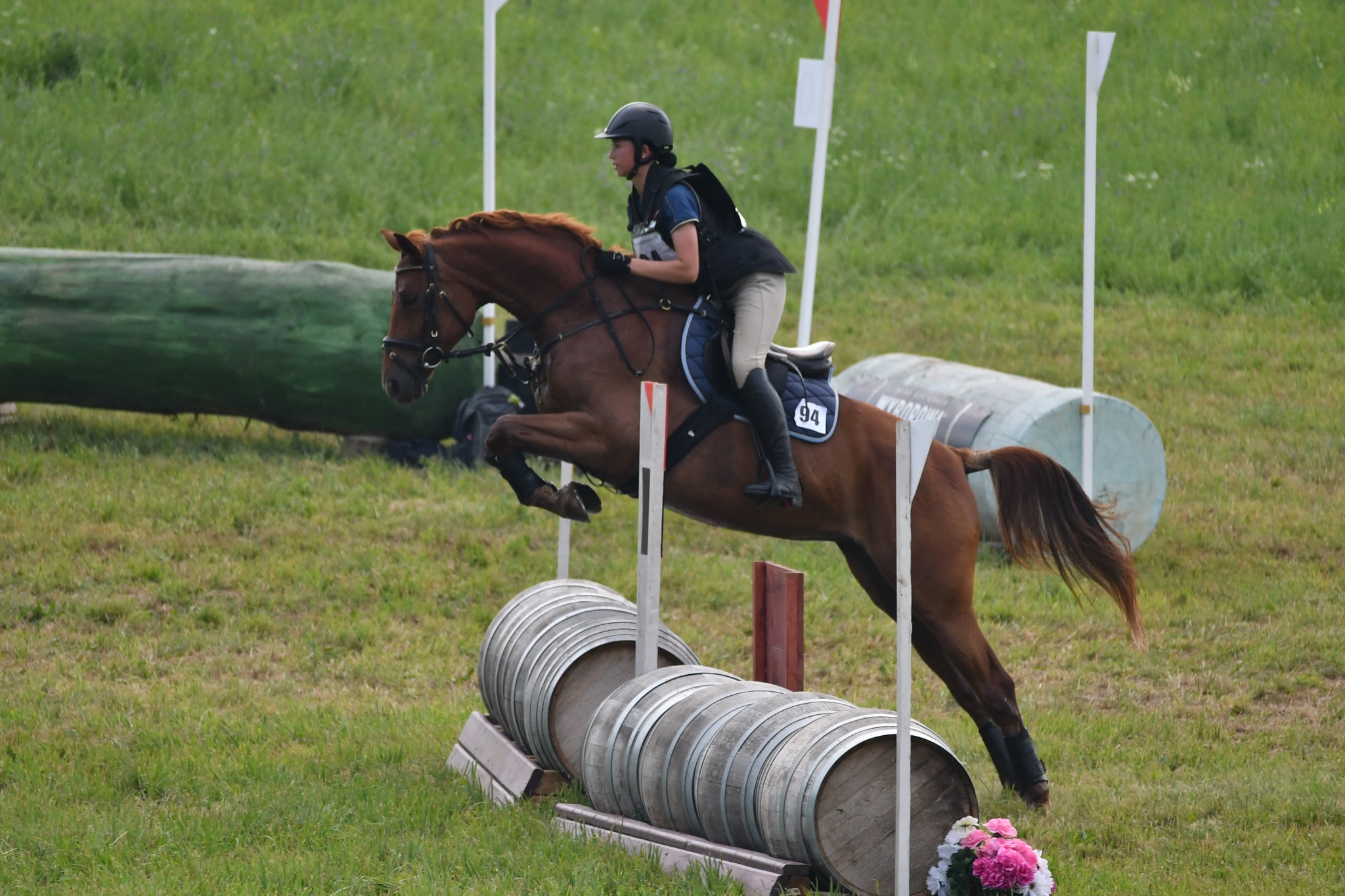 Cross country equestrian comp by Mark Schmit
