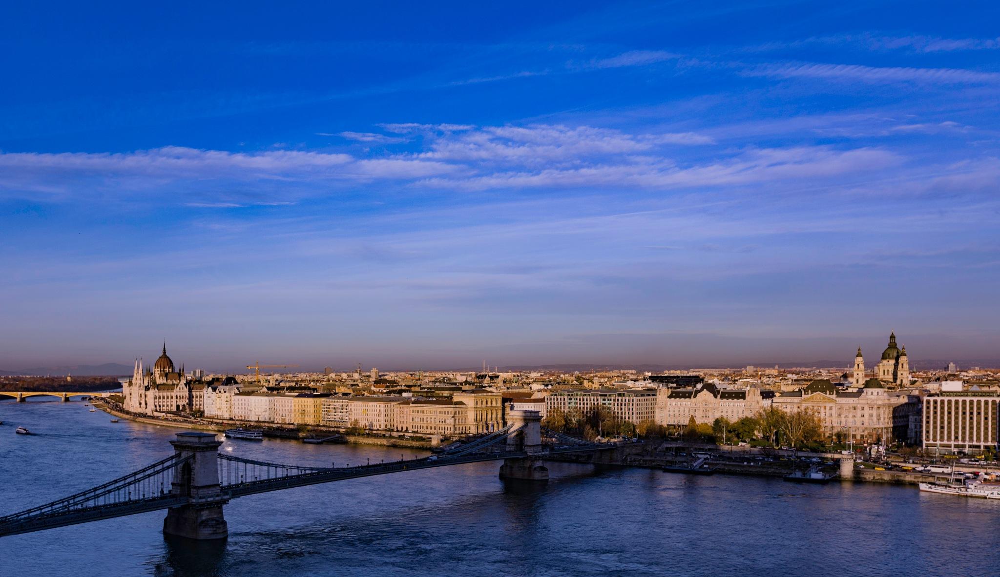 Winter Sky over Budapest by Maarit Komulainen