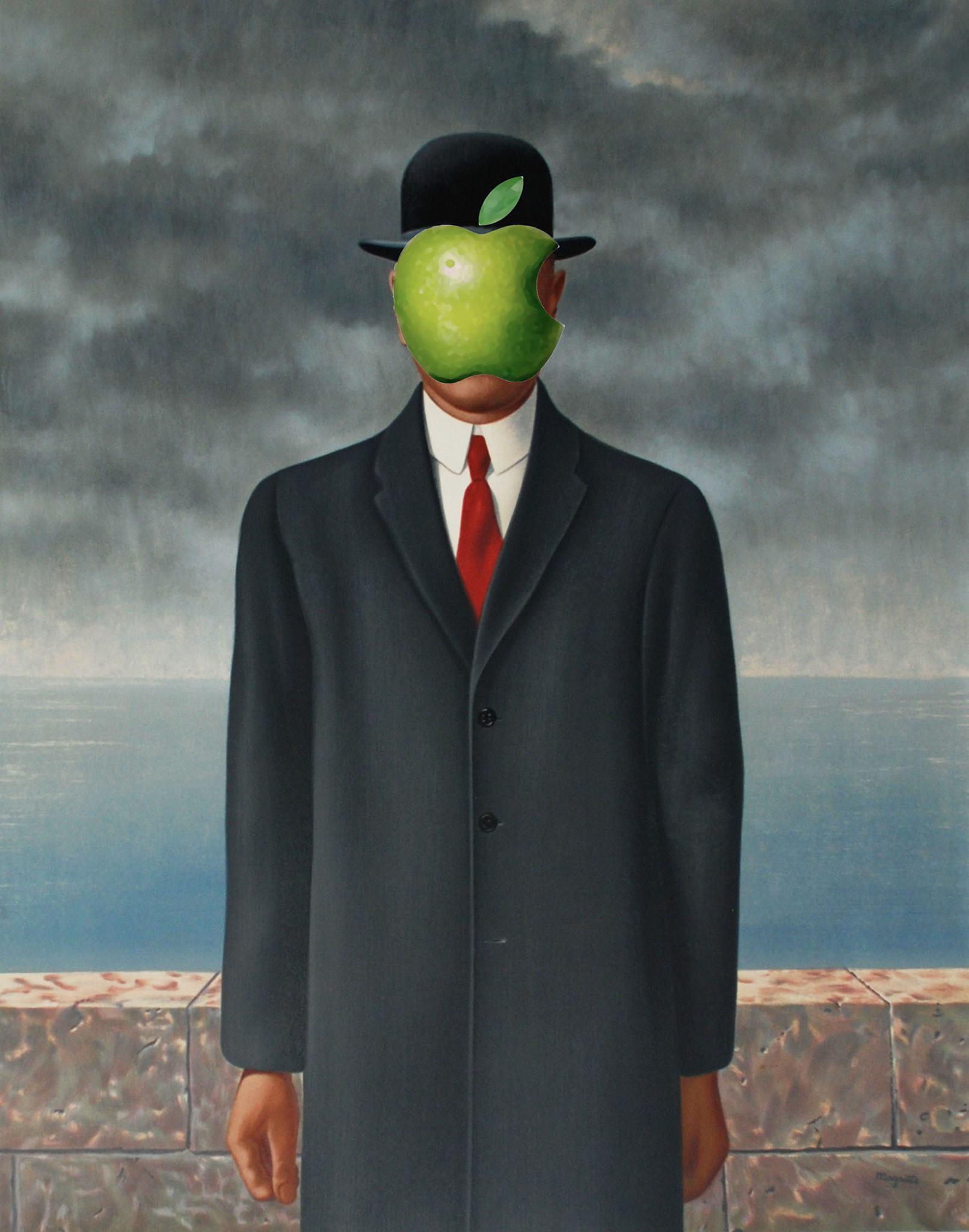 Magritte's Apple by Edouard Tritant Vasilić