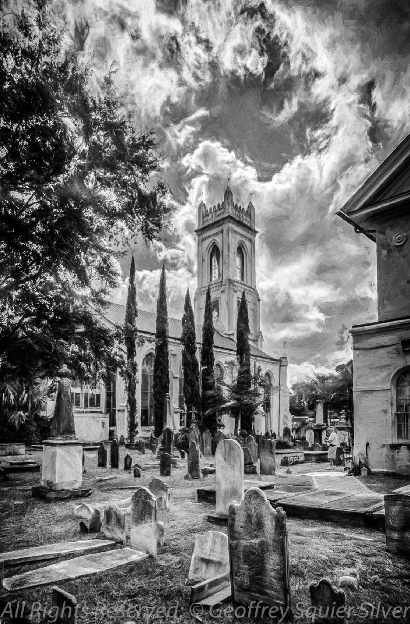Photo in Black and White #charleston south carolina #graveyard #black and white graveyard
