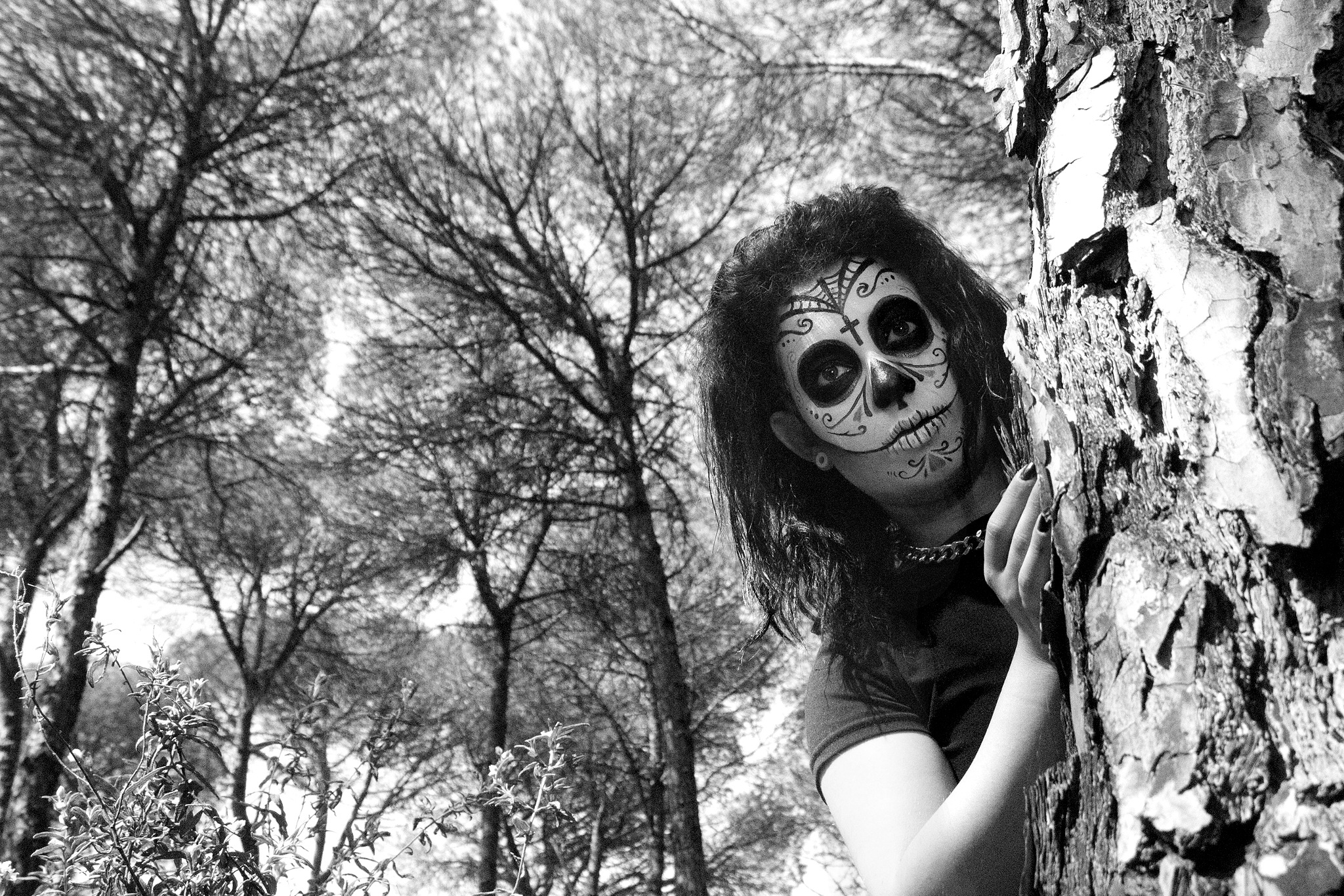 Catrina in forest by Eduardo Gancedo