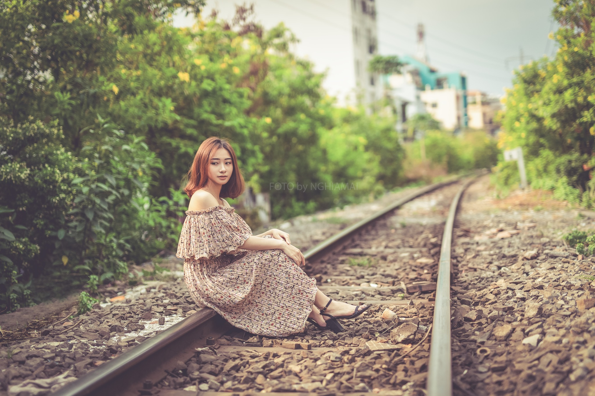An Afternoon at Railway Station by Nghia Mai