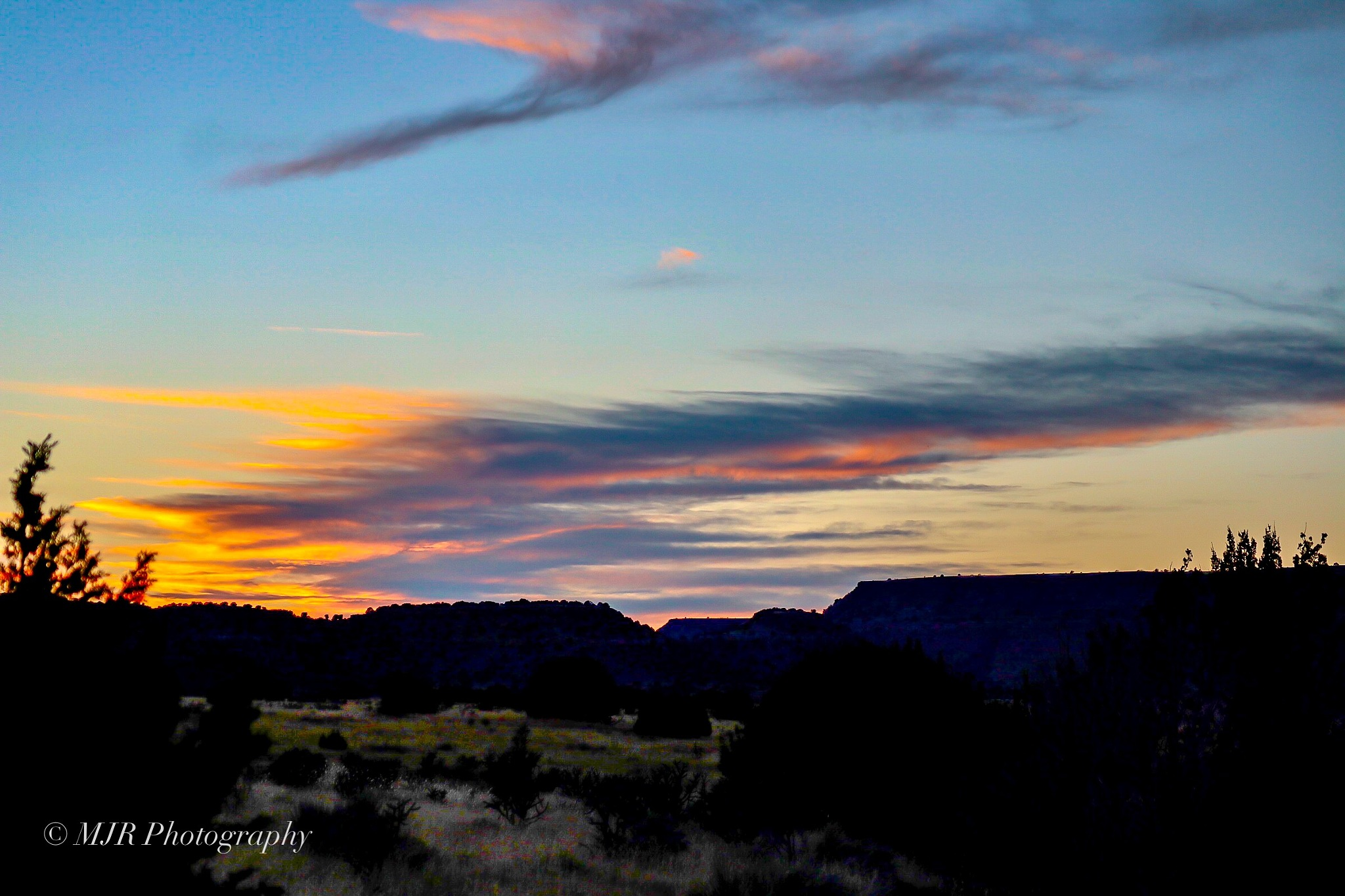 Sunset over the Dry Cimarron!! by Mark Roberts