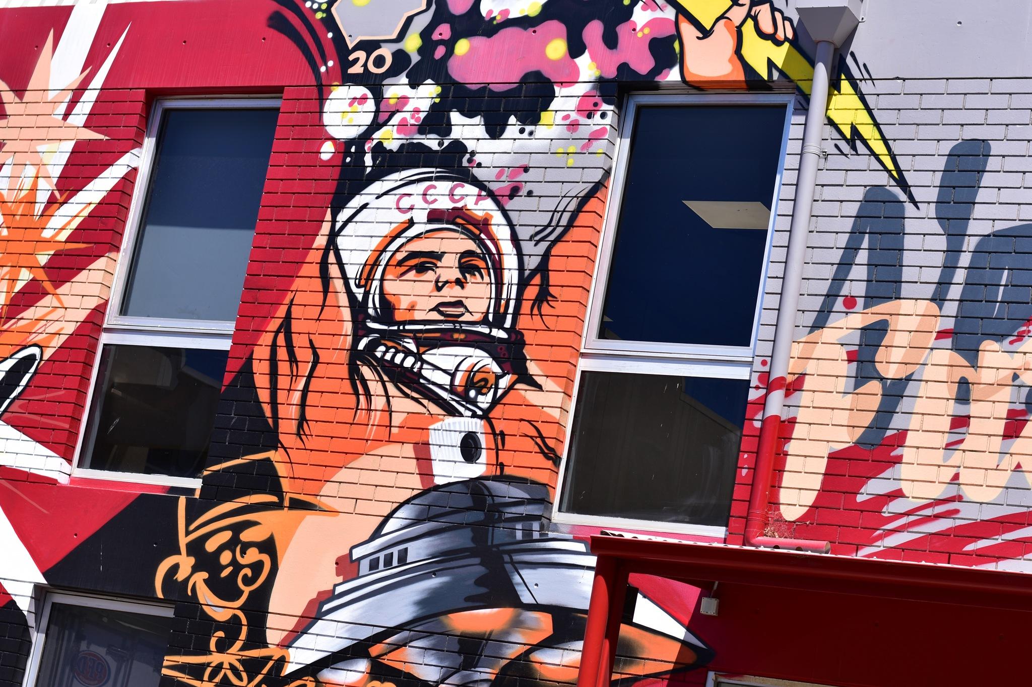 Photo in Urban #street art #urban #mural #cosmonaut #ufo #adelaide