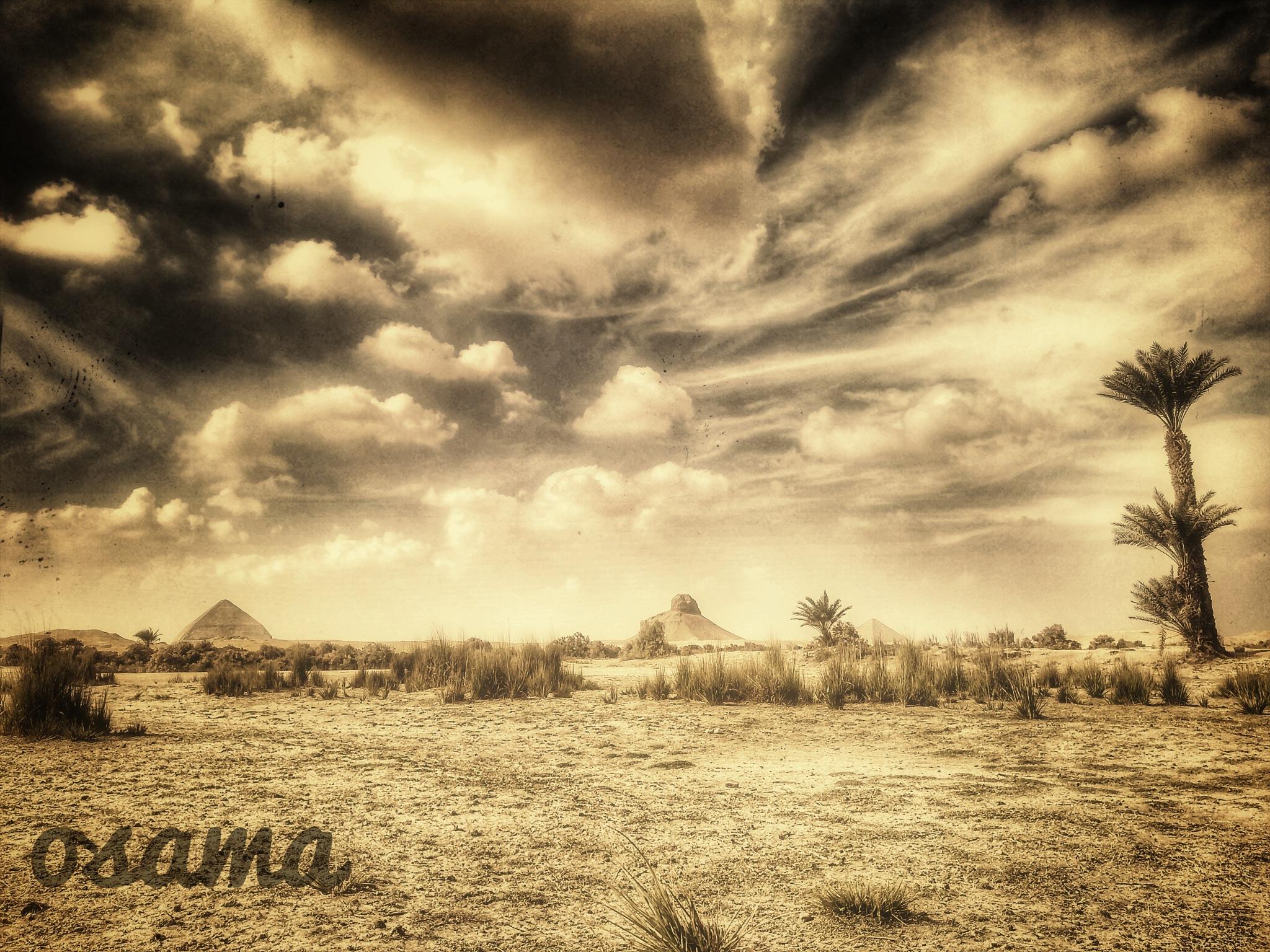 Dahshour pyramids by Usama Taha