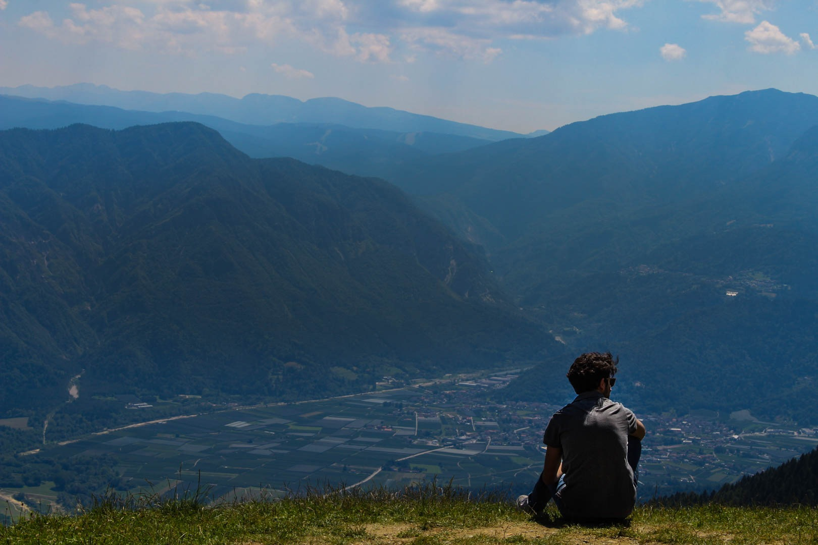 relax on the top of the mountain by Manuel Castronuovo