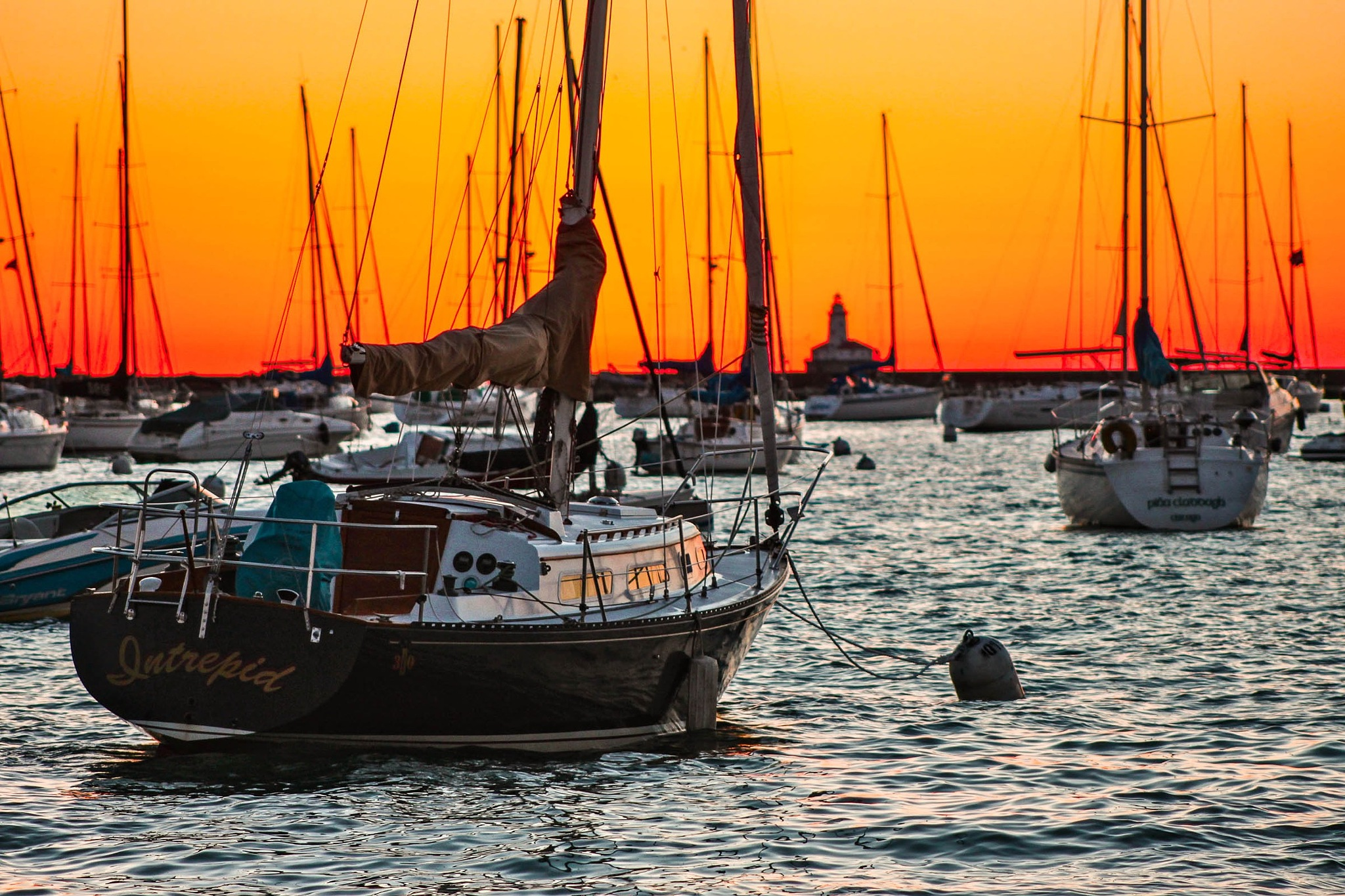Boat Yard in Lake Michigan  by ZS Photography