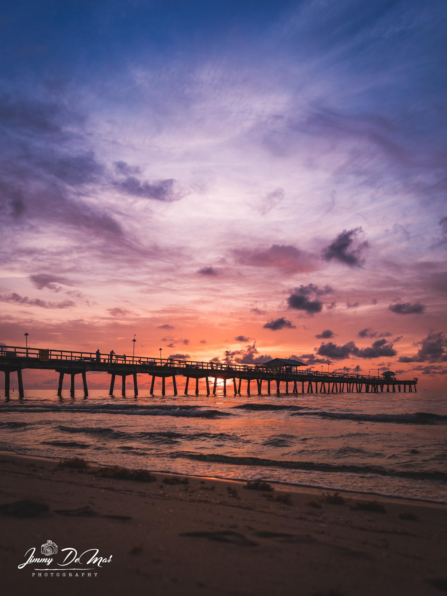 A muted sunrise.  by Jimmy DeMar