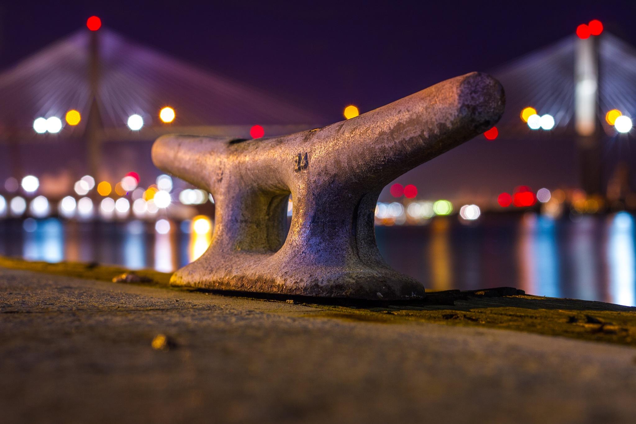 Savannah Docks at Night  by Tyler Dewland