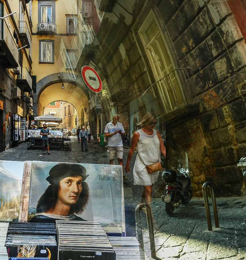 "Naples Italy - ""Portalba"" The street of bookshops and ancient books sellers. by Saverio DeMeo"