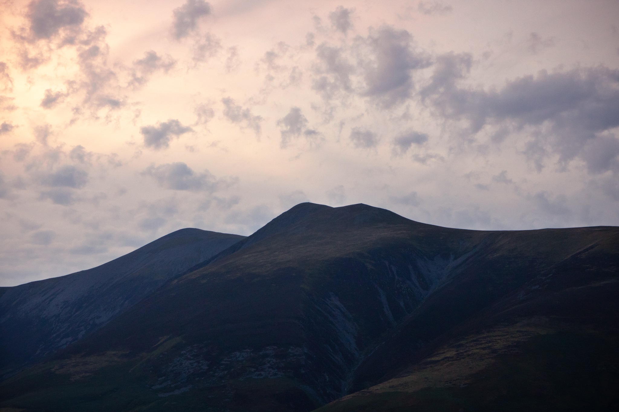 Skiddaw at Sunset. by Joe Elsom
