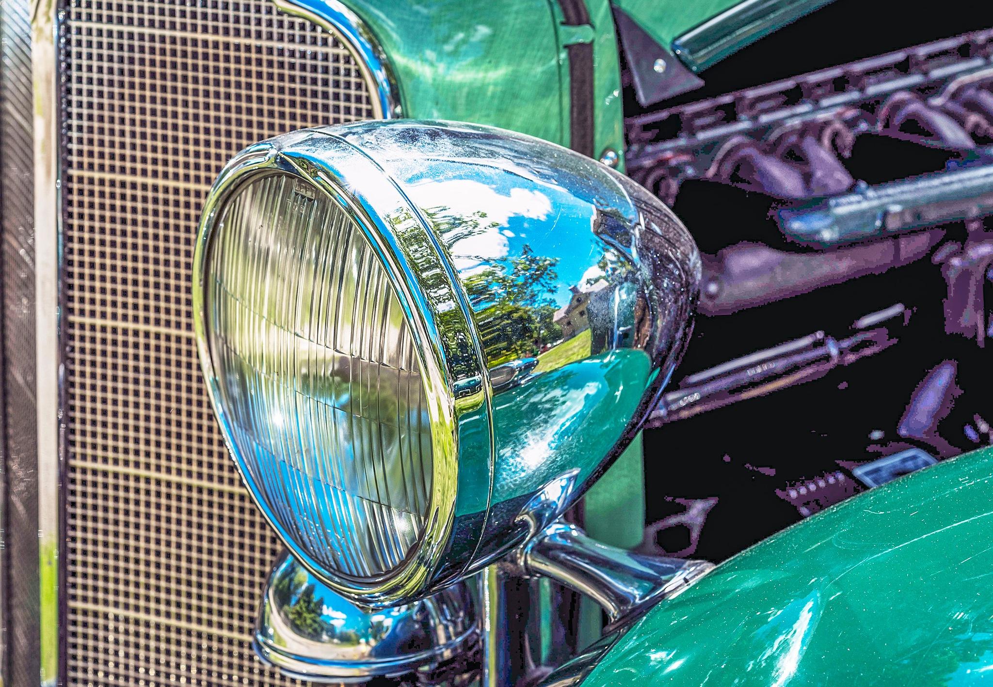 Photo in Random #classic car #headlight #antique #automobile #car #autos #grill #engine #fender #green #concours #car show #summer #automóvil clásico #automobile classica #automobile classique #klassisches automobil #क्लासिक ऑटोमोबाइल #古典的な自動車 #классический автомобиль #класичний автомобіль #klassisk bil