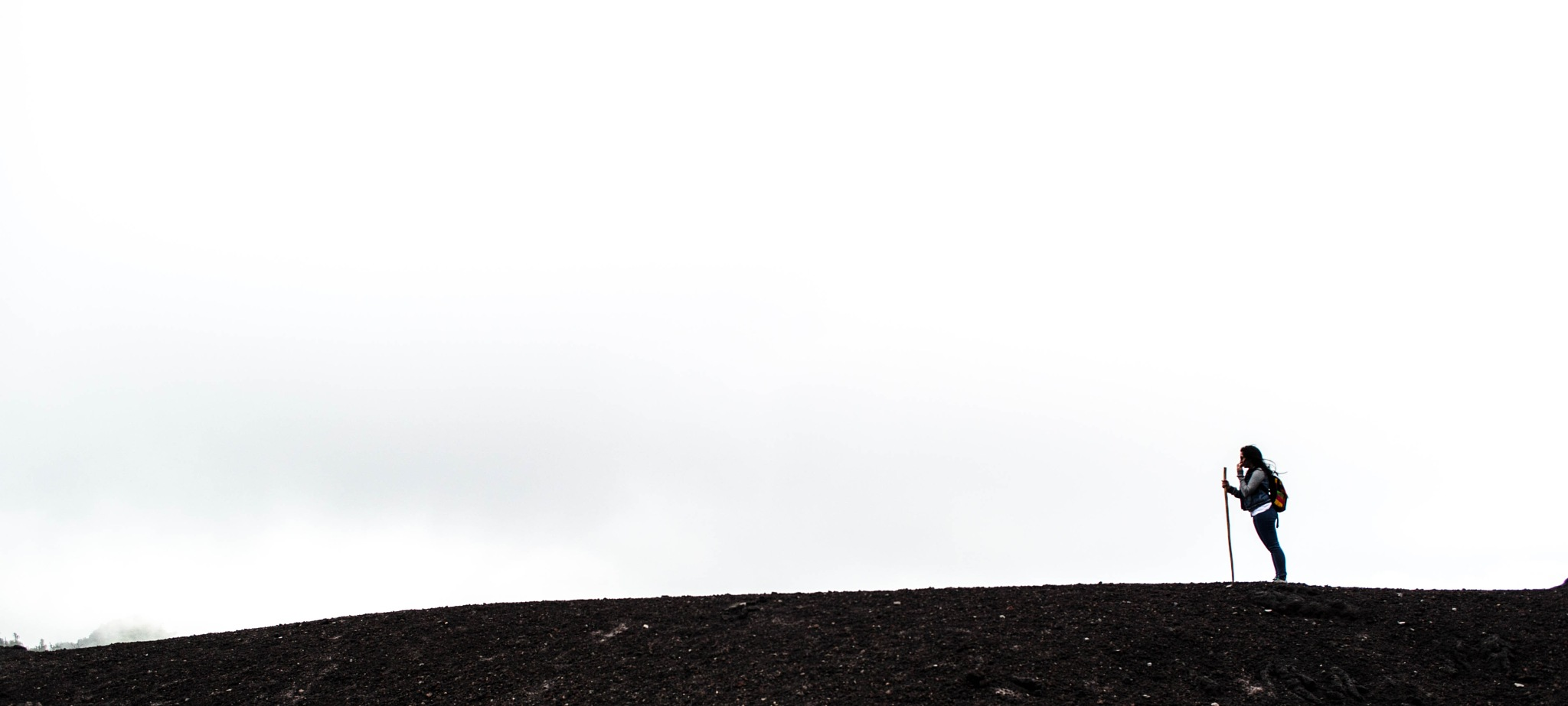 Girl on a volcano by José Pablo De León Vaides