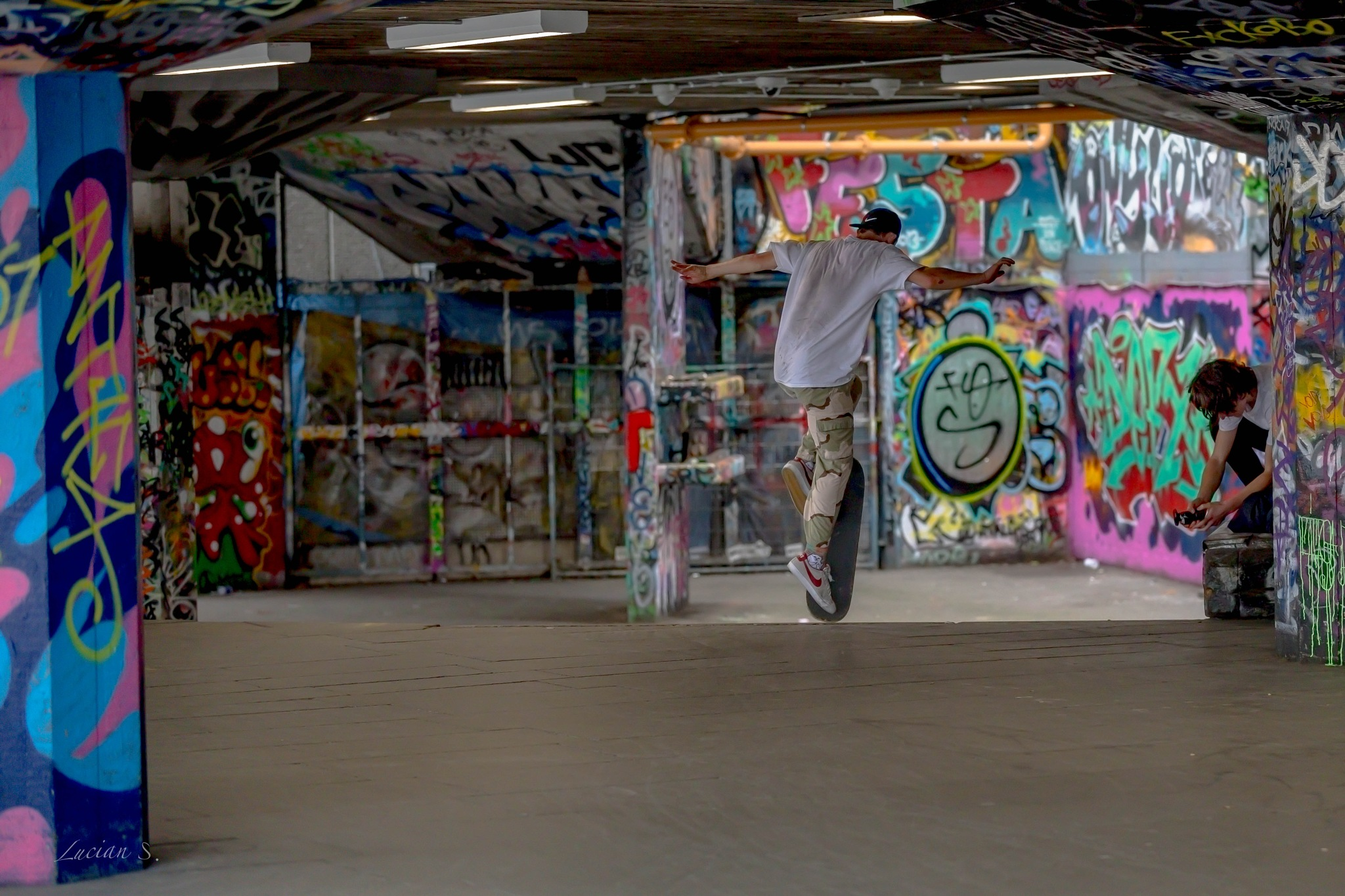 Skateboarders, London! by Lucian Smarandache