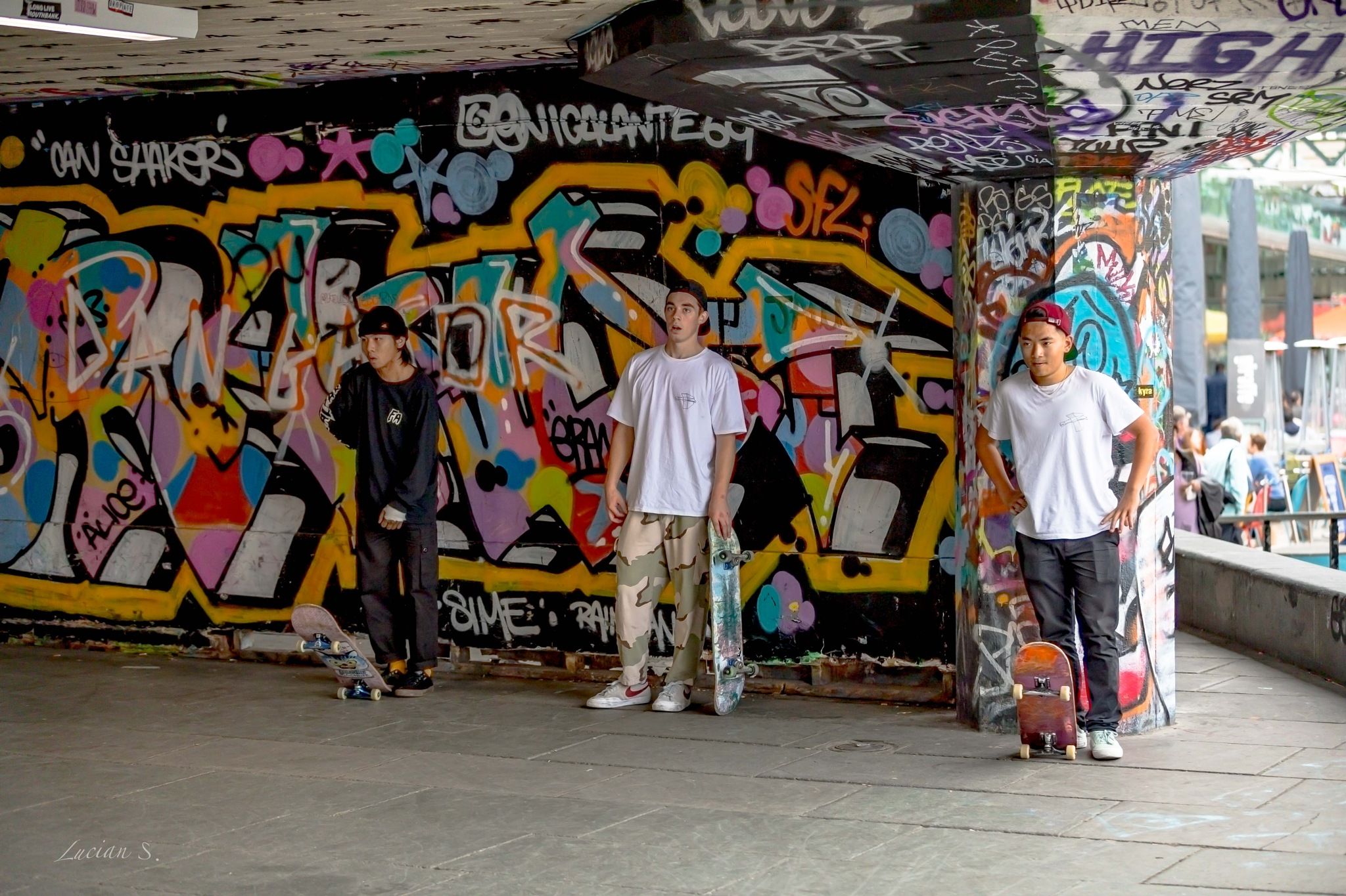 Skateboarders, London! by Lucian Smarandache