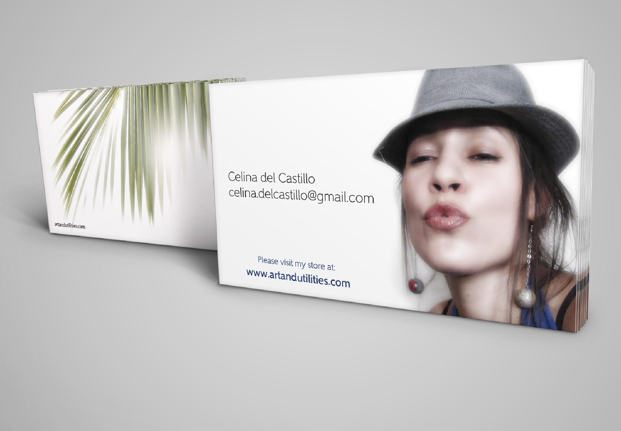 Business card design by Celina del Castillo