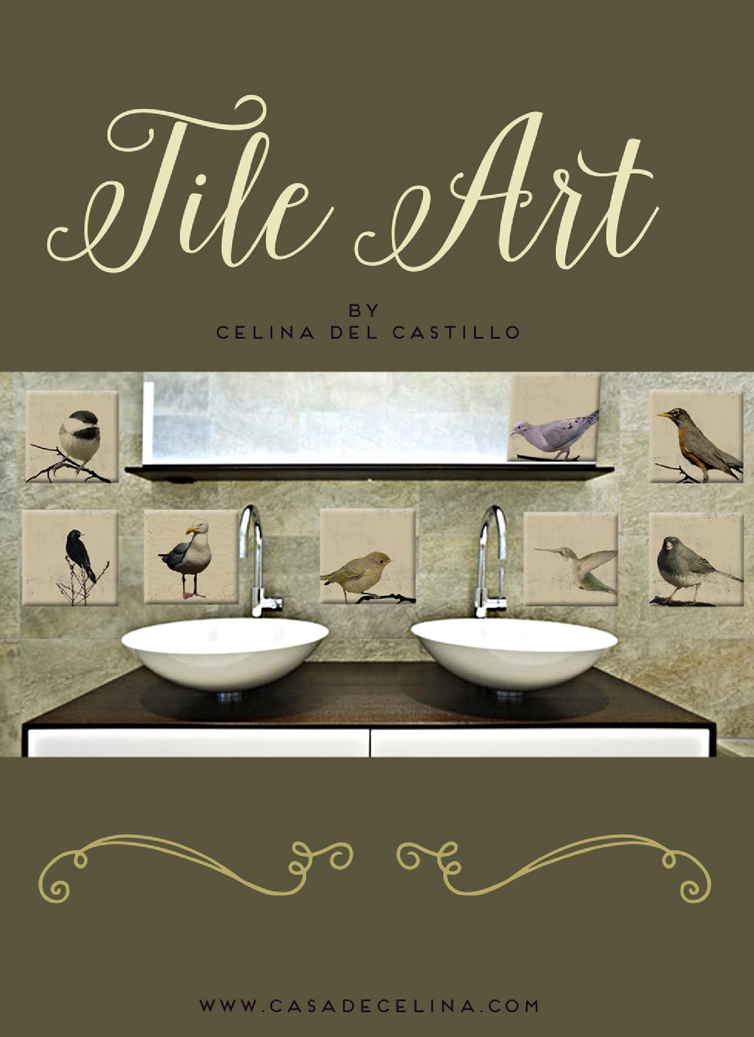 bird photography prints on tile by Celina del Castillo