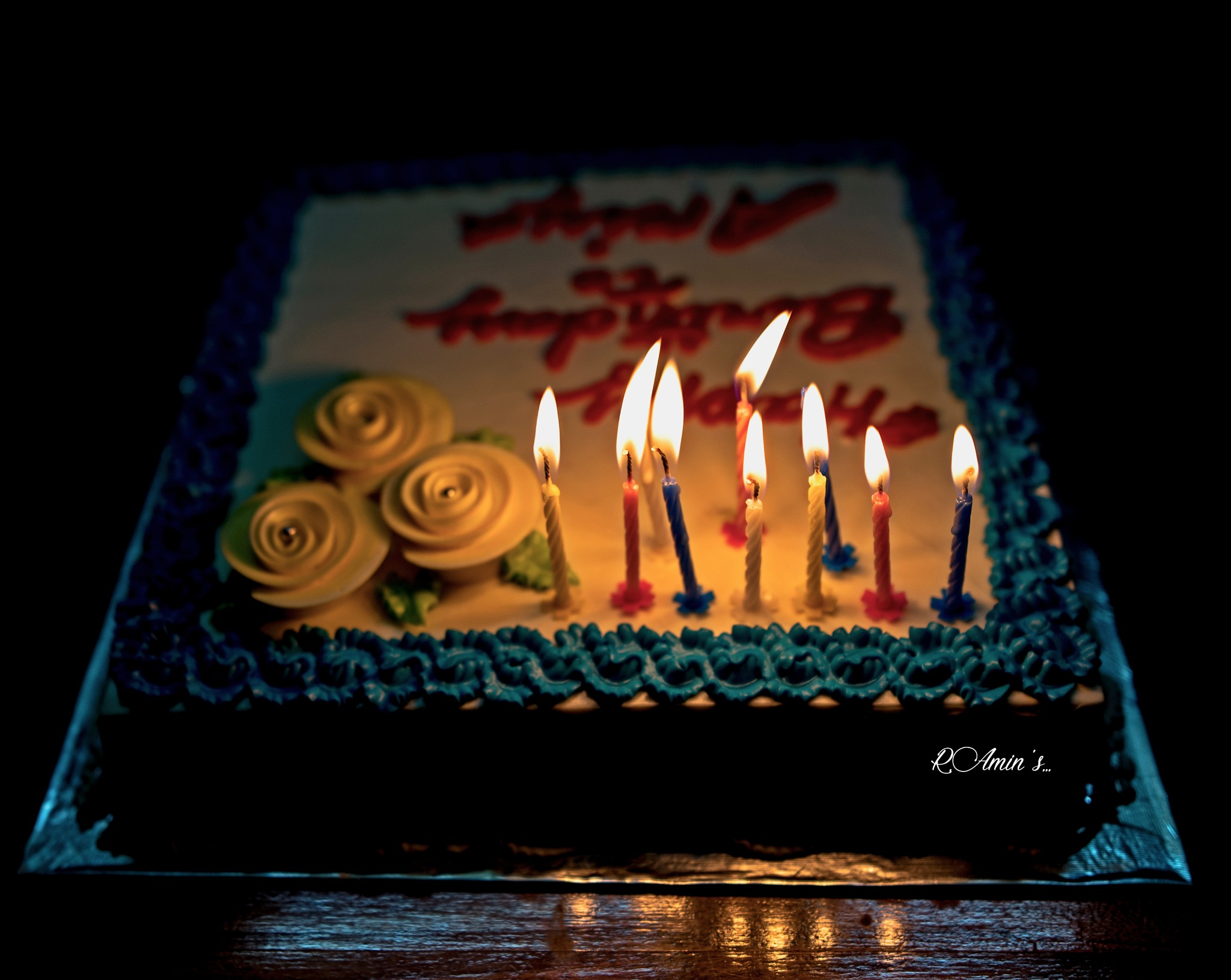 Birthday Cake with Candle Light... by Md. Ruhul Amin