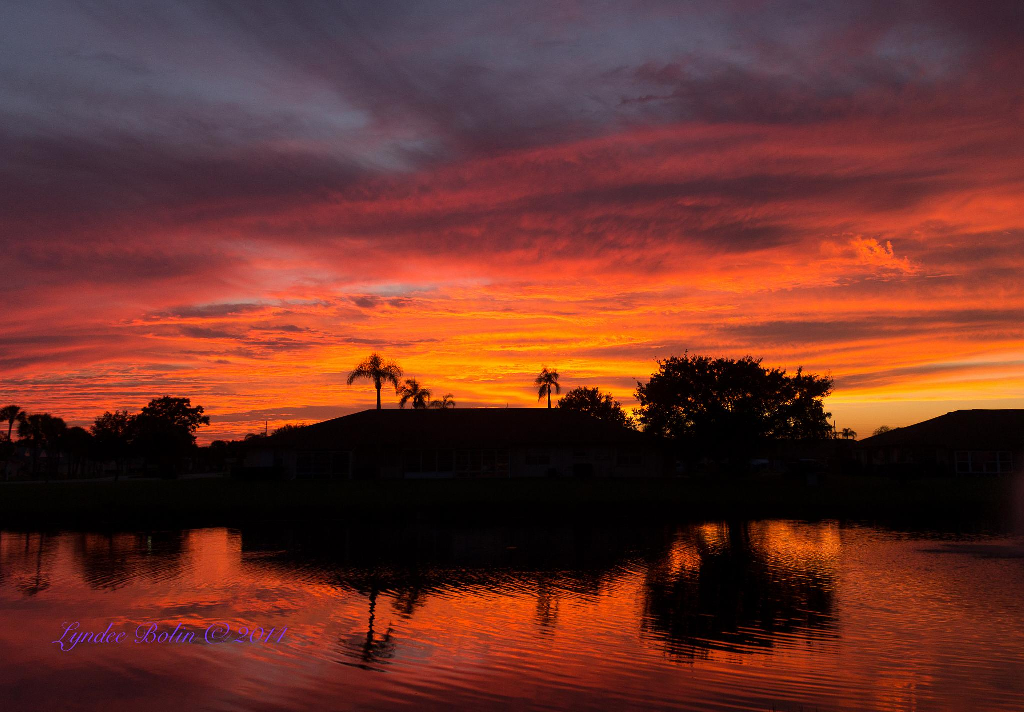 October Sunset by Lyndee Bolin