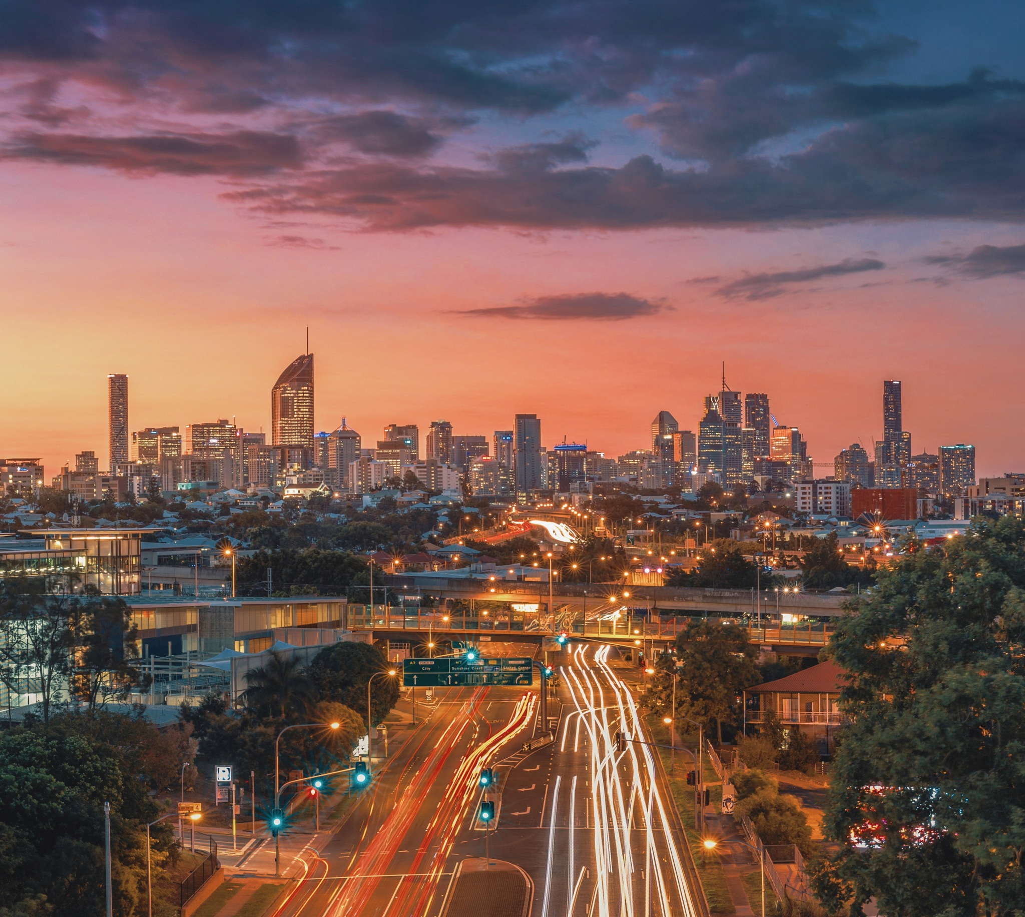 Long Exposure at Sunset in Brisbane by Aras Shots