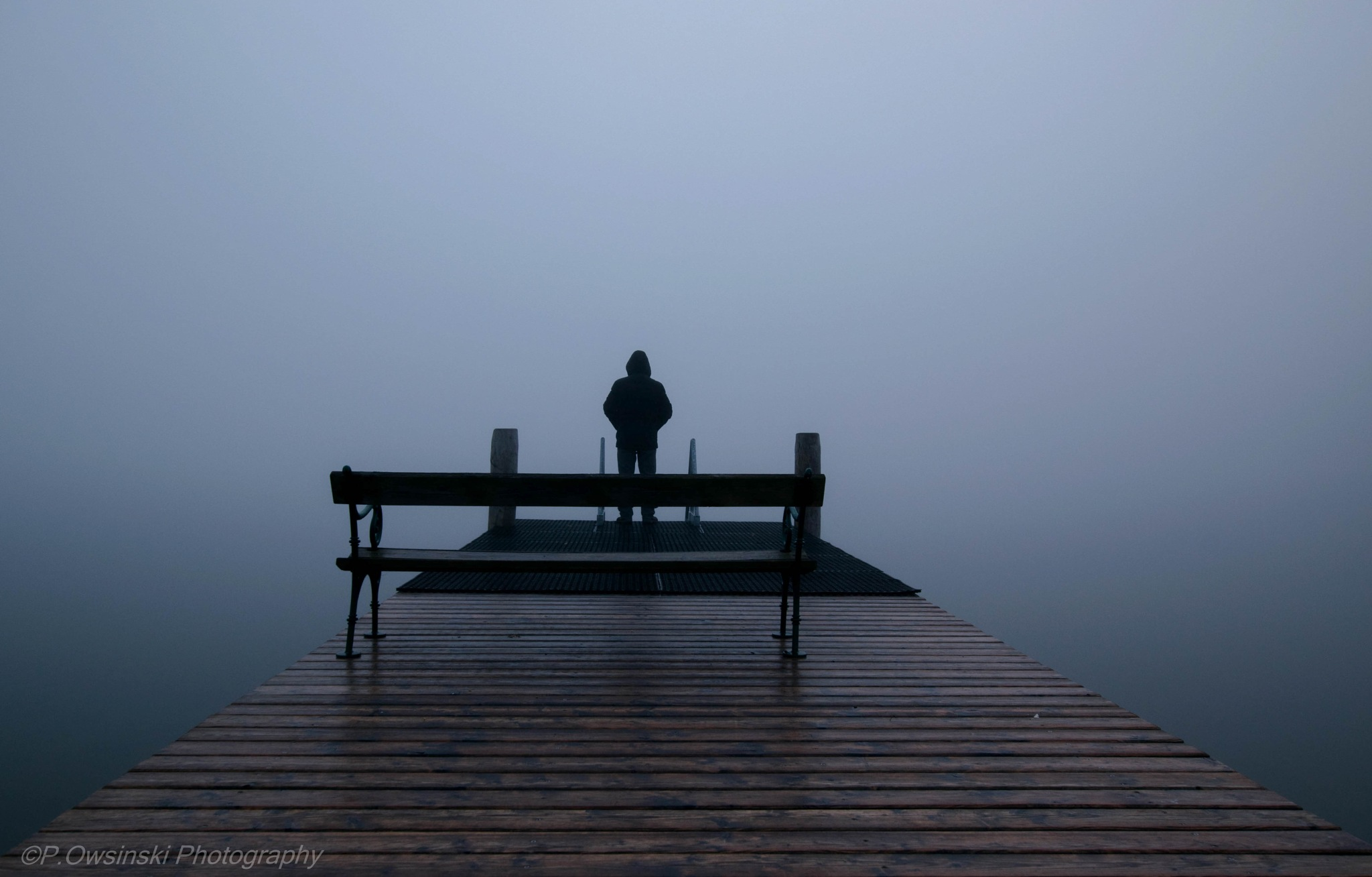 A lonely man in the fog by naturfotografieat