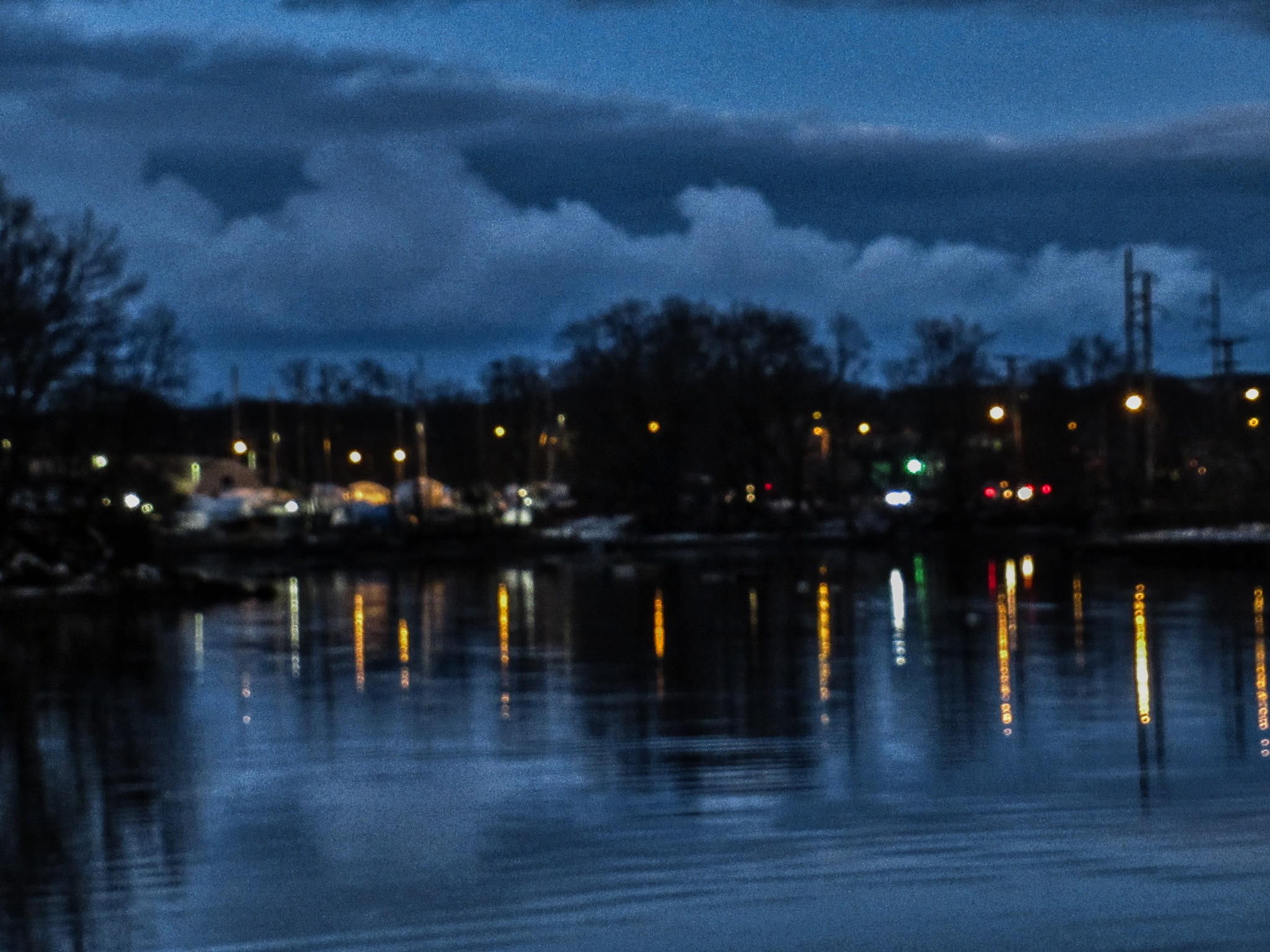 The Bass River at Night by D. Scott Hufford