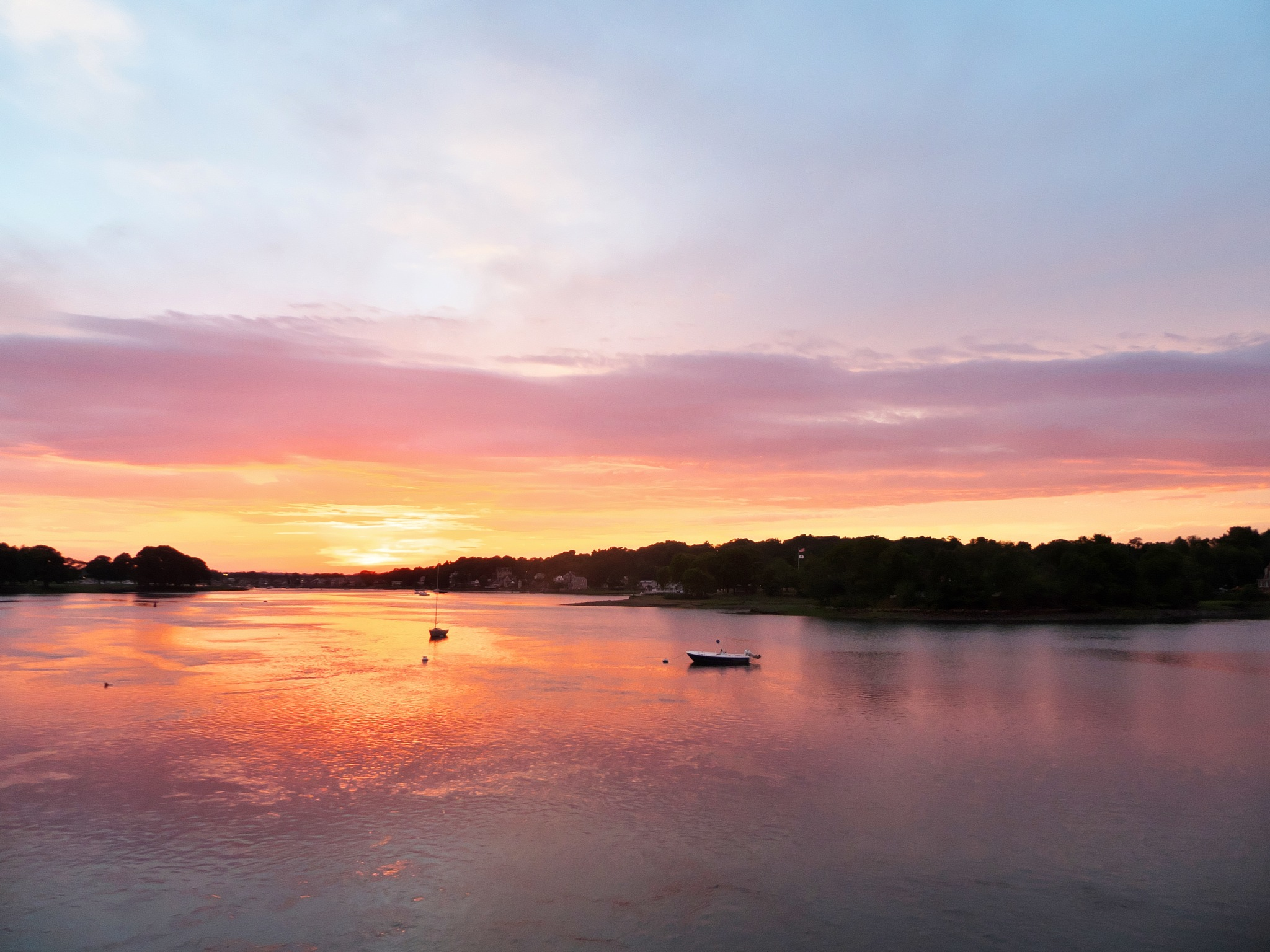 Danvers River Sunset by D. Scott Hufford