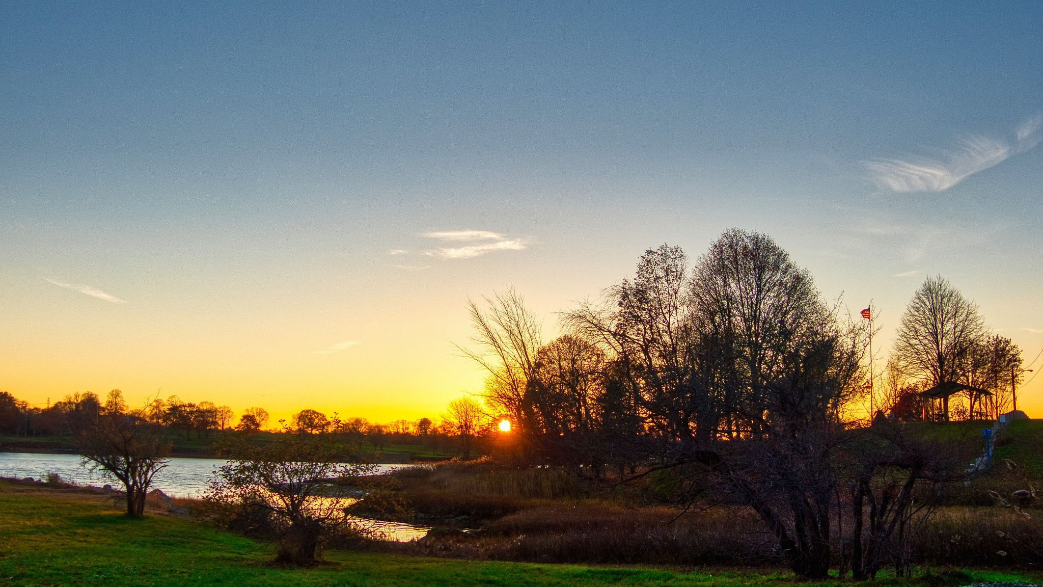 Obear Park at Sunset by D. Scott Hufford