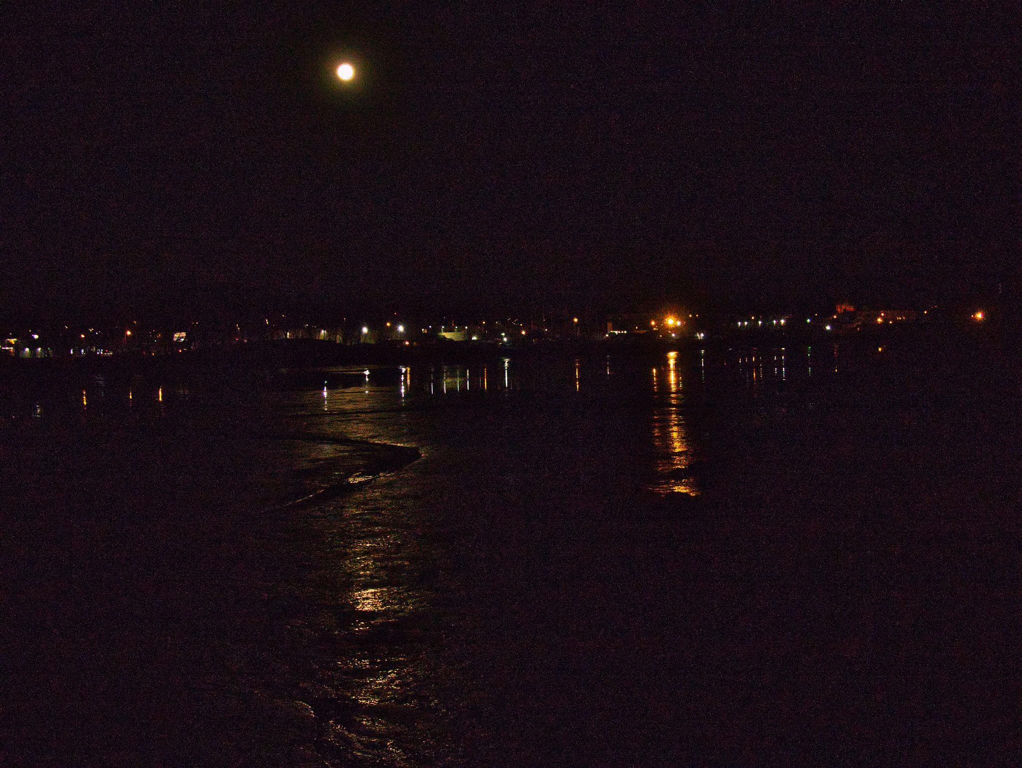 Moonrise over the Bass River at Low Tide by D. Scott Hufford