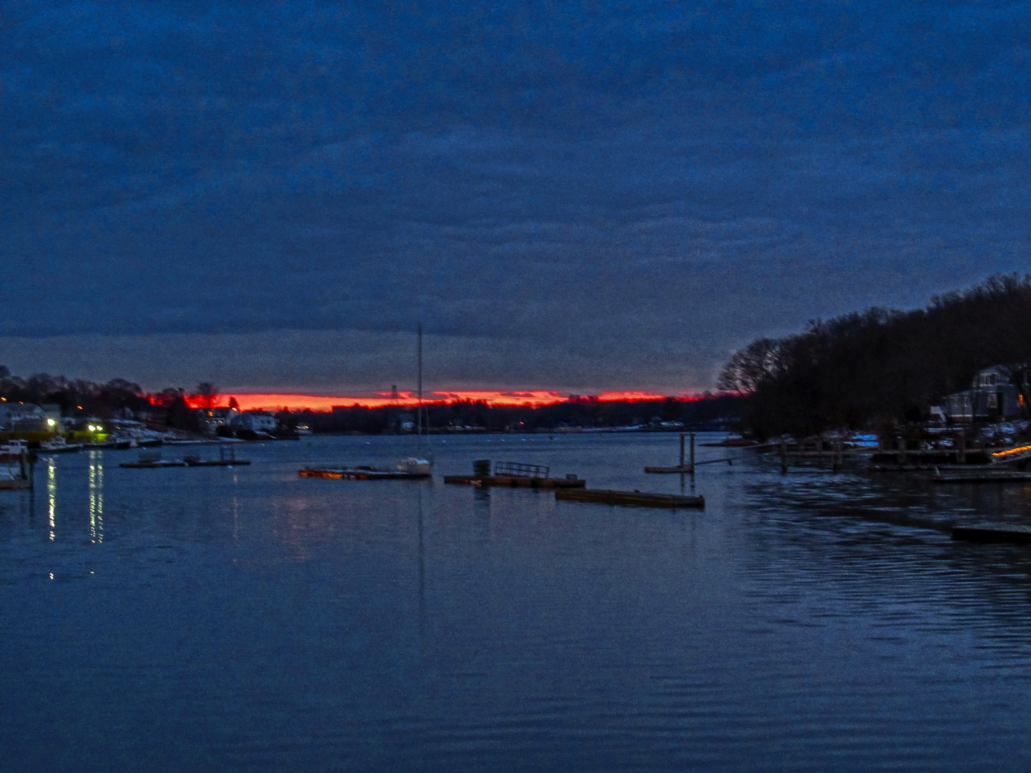 The Bass River after Sunset by D. Scott Hufford