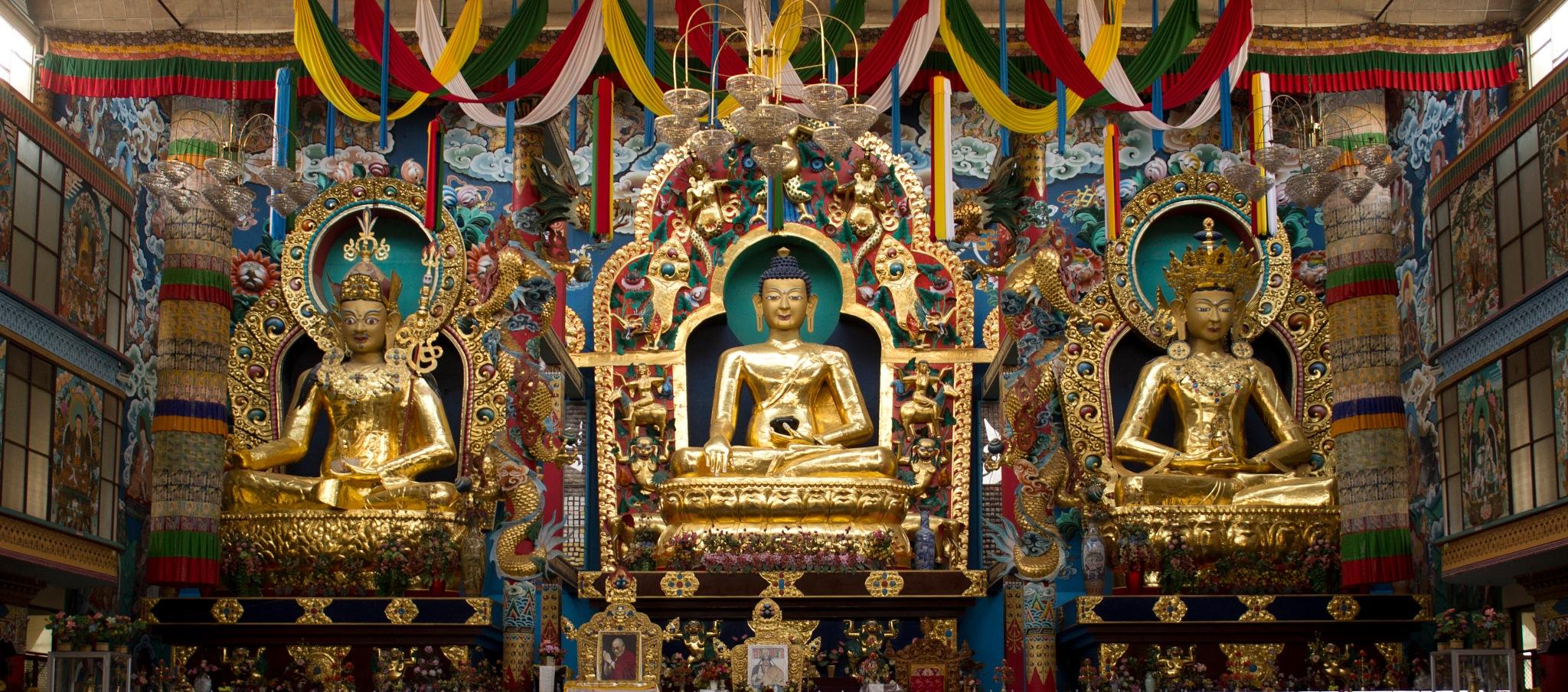 Namdroling Nyingmapa Monastery, Kushal Nagar, Karnataka. by Kushal Bilijaji