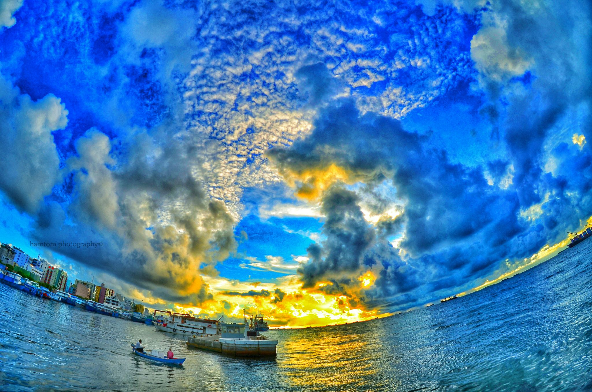 sunset cloudy... by Mohamed Hamza