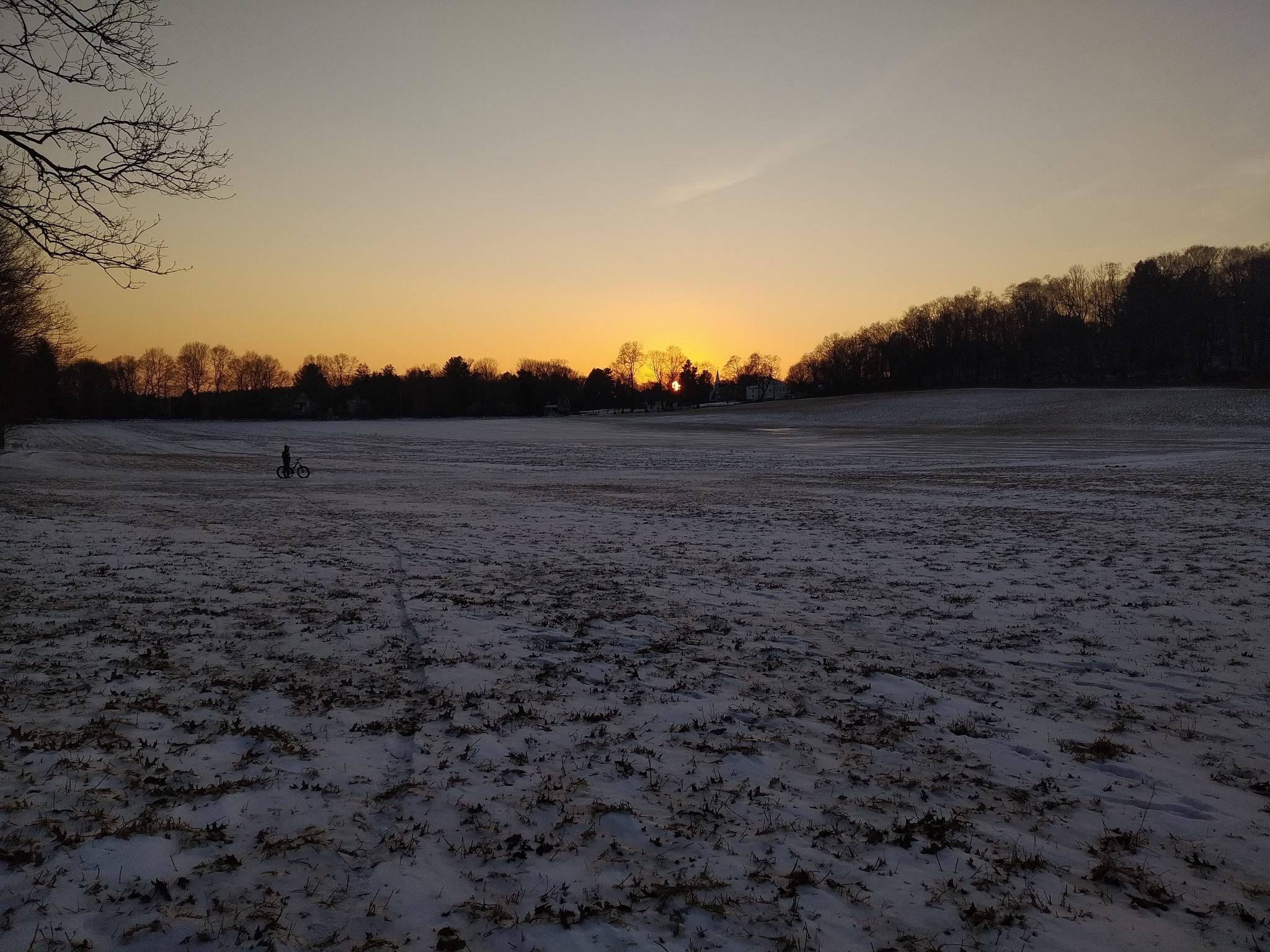 sunset & snow by Angelina Leo