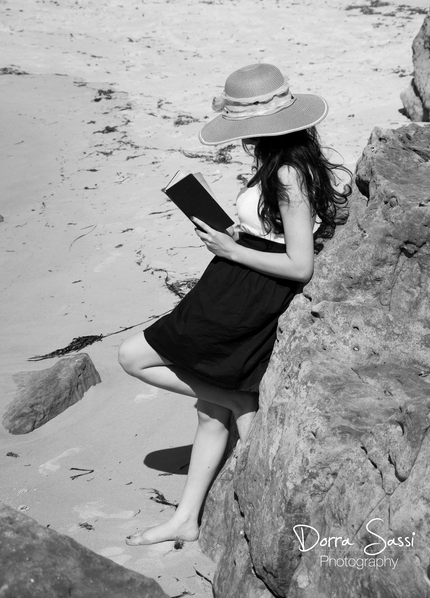 reading a book  by Dorra sassi