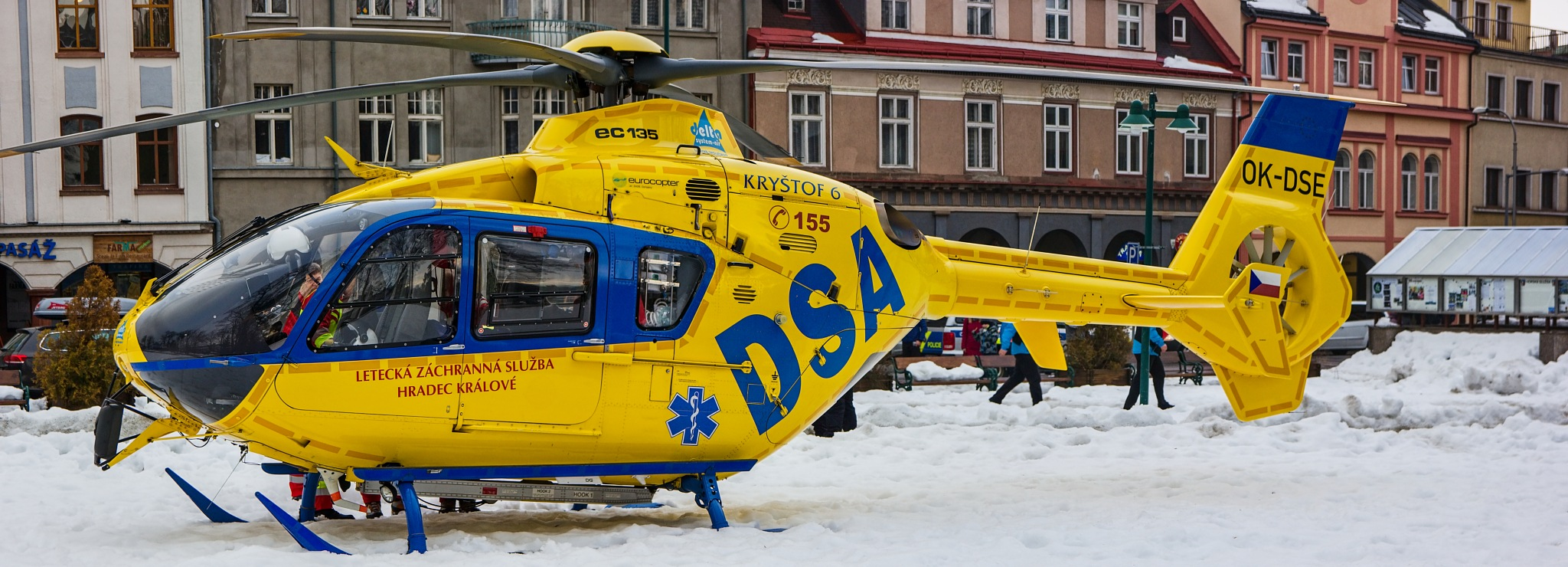 Photo in Vehicle #helicopter #eurocopter #medevac #snow