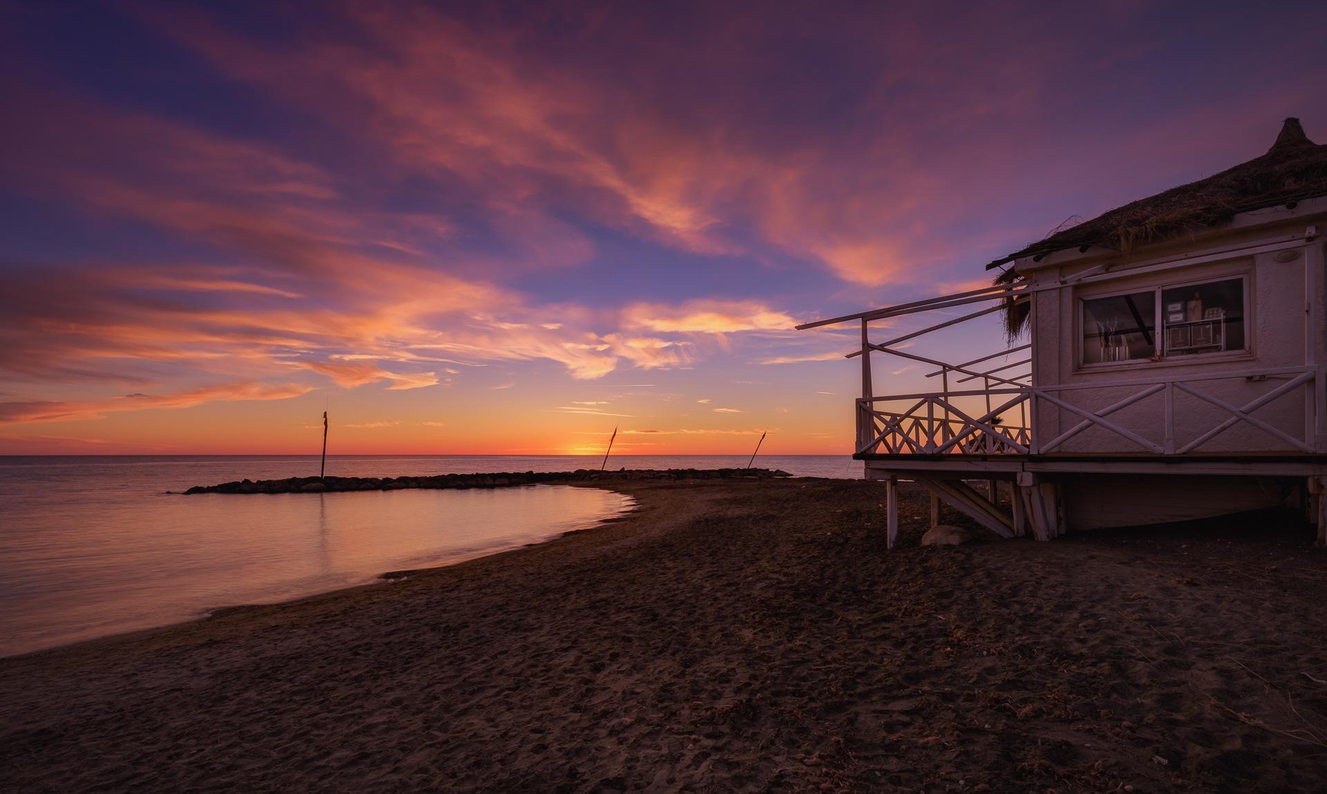 Photo in Nature #sunset #seaside #beach #landscapephoto #seascape #spiagge #plage