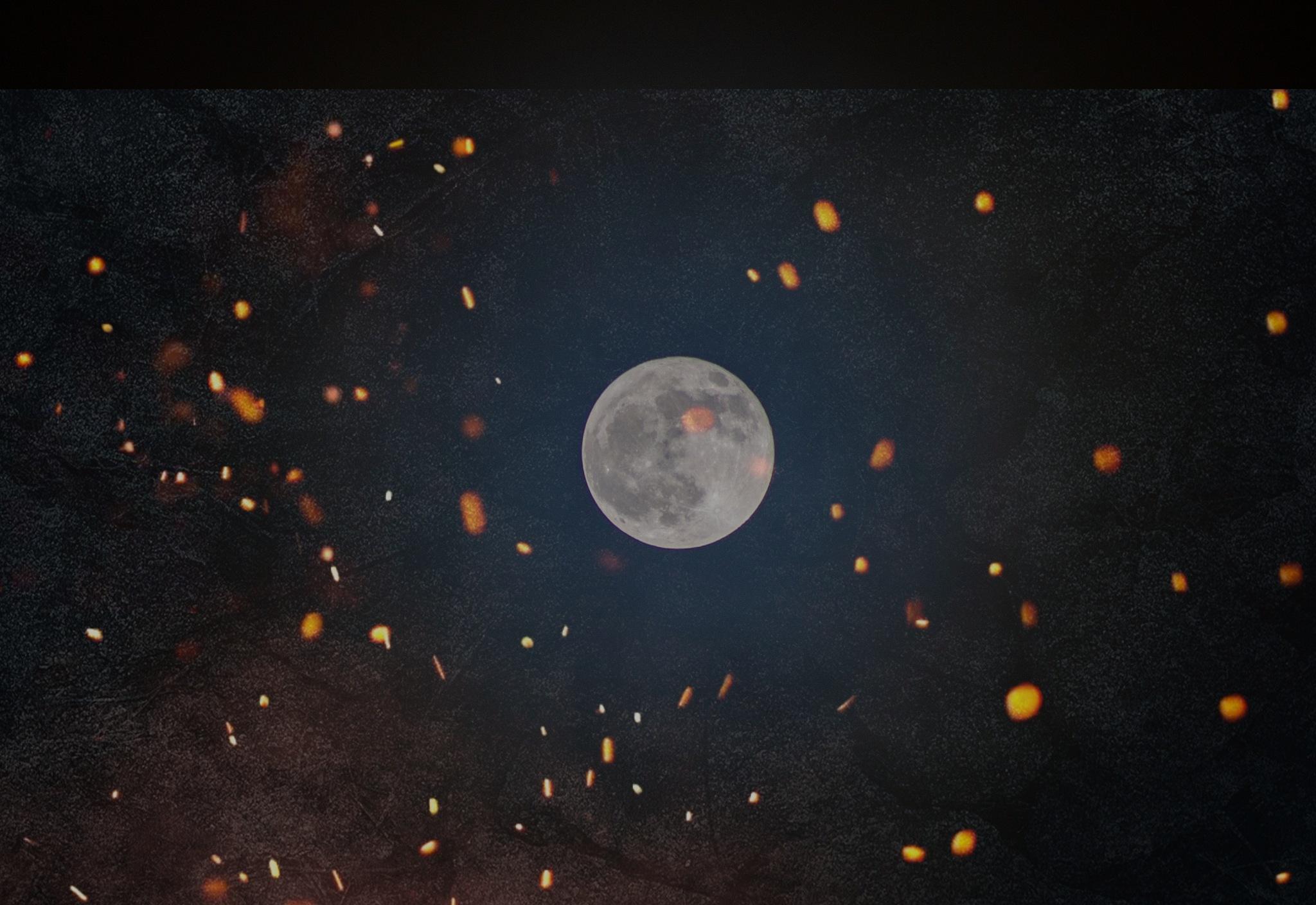 Holika Dahan Full Moon  by Ajay Narain Kaul