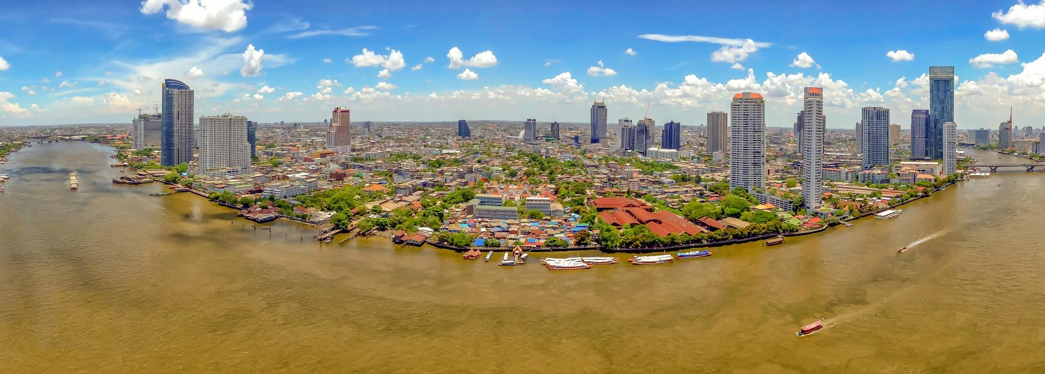 Cityscape Vista of Bangkok by Tremain Tanner
