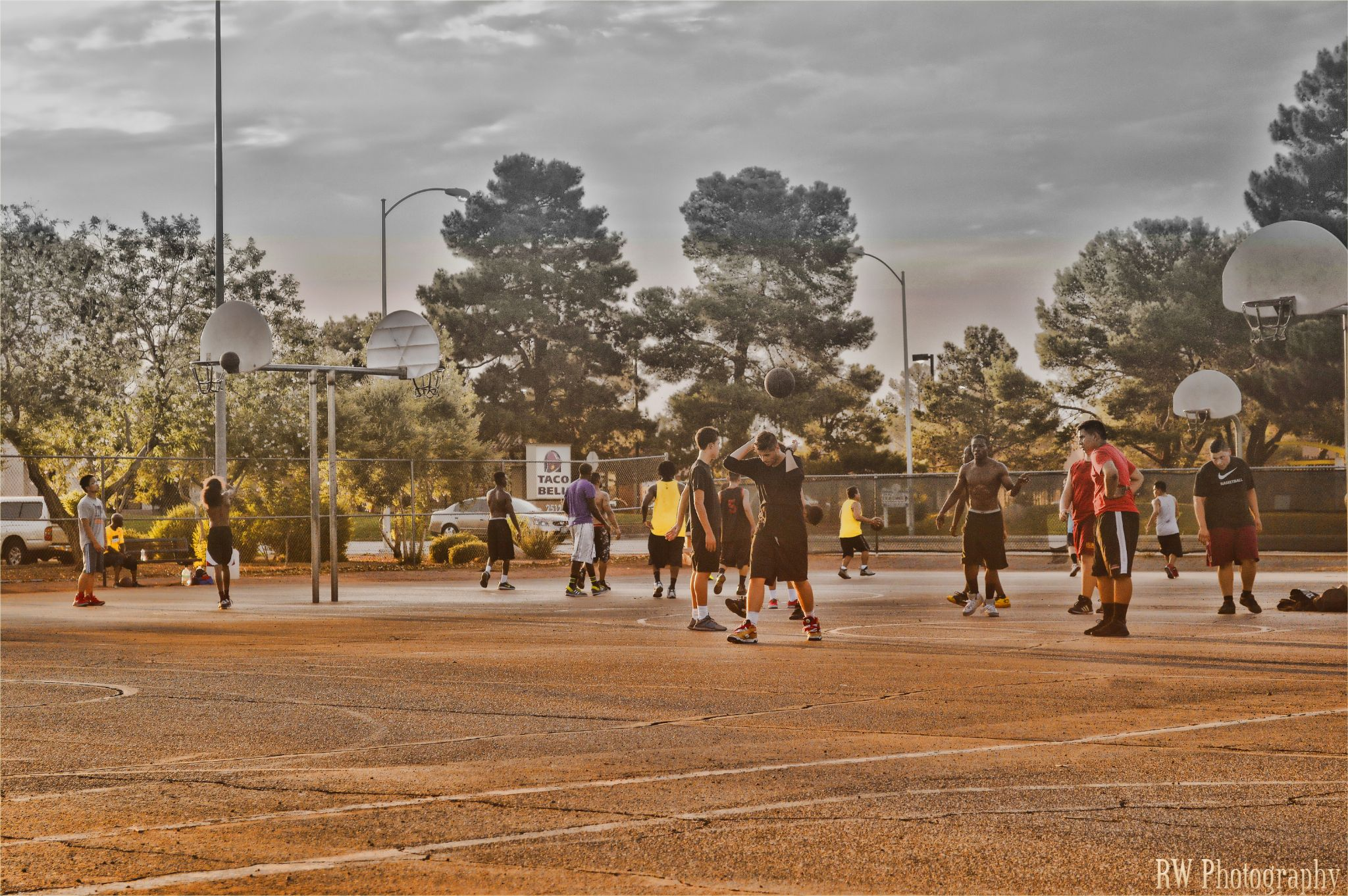 B Ball Game At Sunset Park Capture by Rod Wash