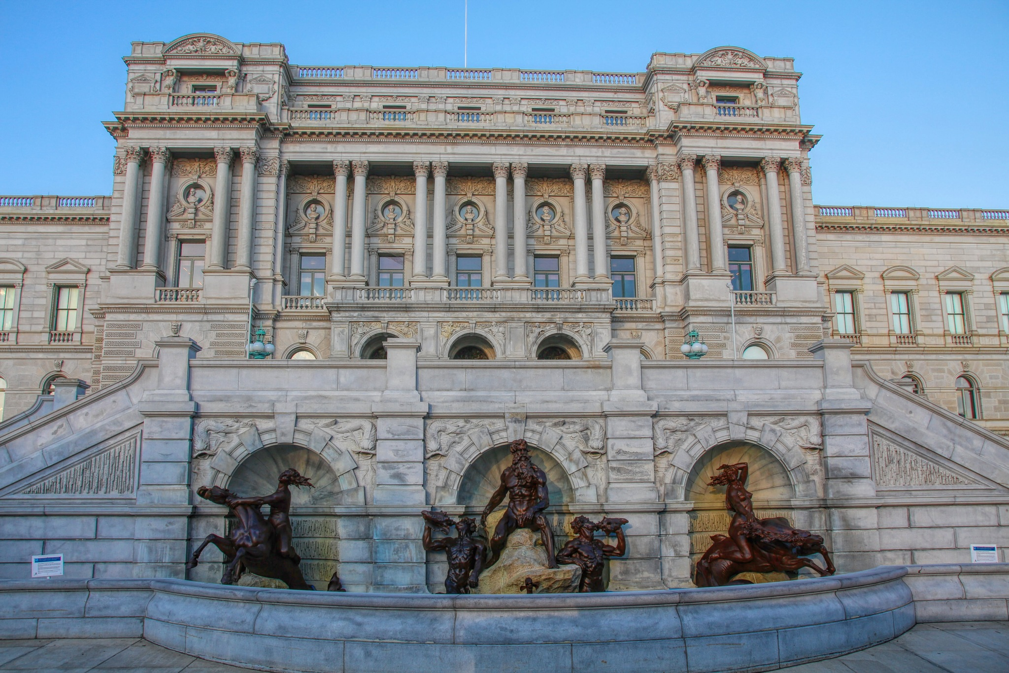 Library of Congress Statues by Brian Dill