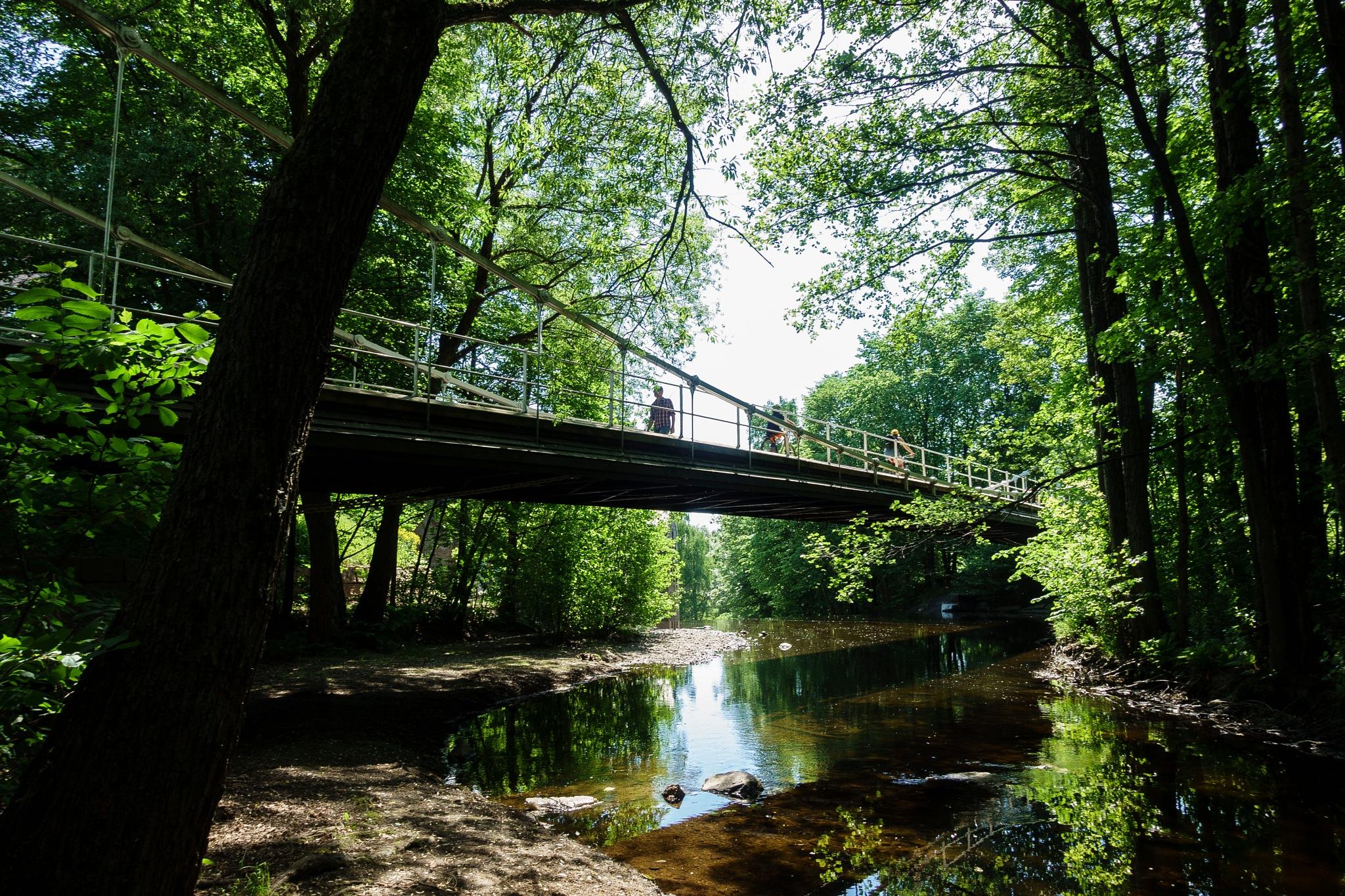 Aamodt bridge and Akerselva by JonArneFoss