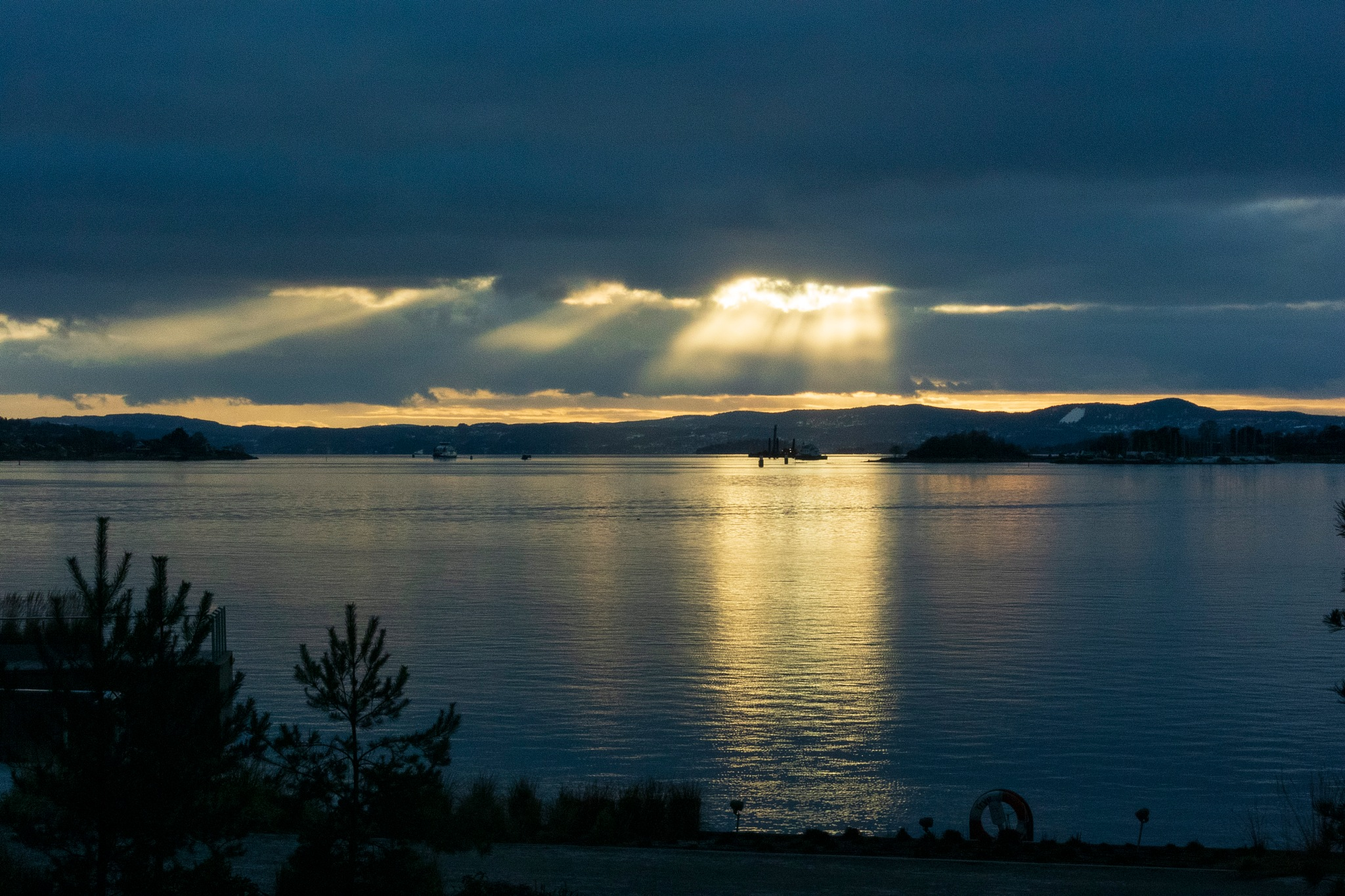 Photo in Landscape #oslo #sun #norway #sea #oslofjord