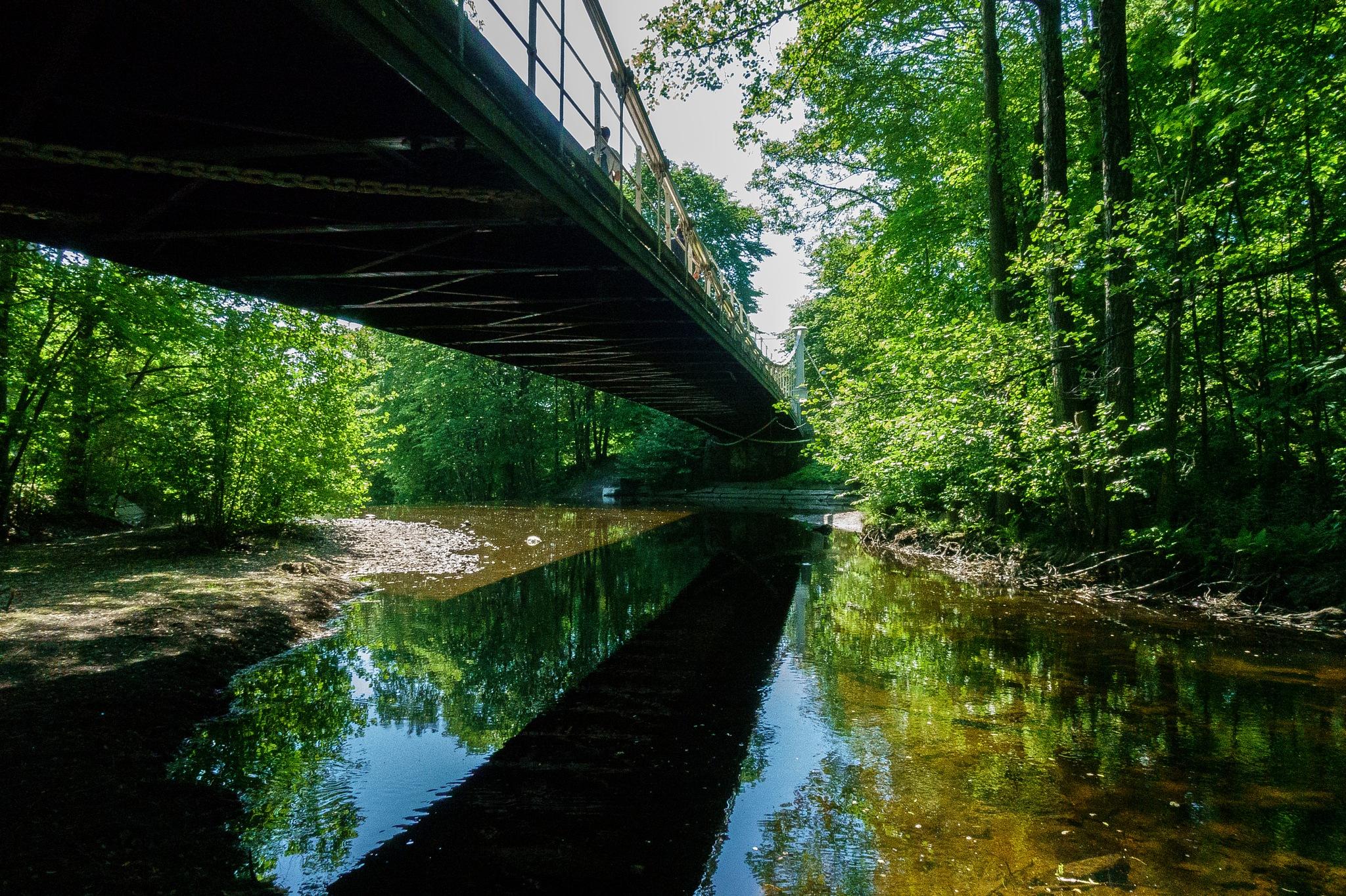 Bridge over still water  by JonArneFoss