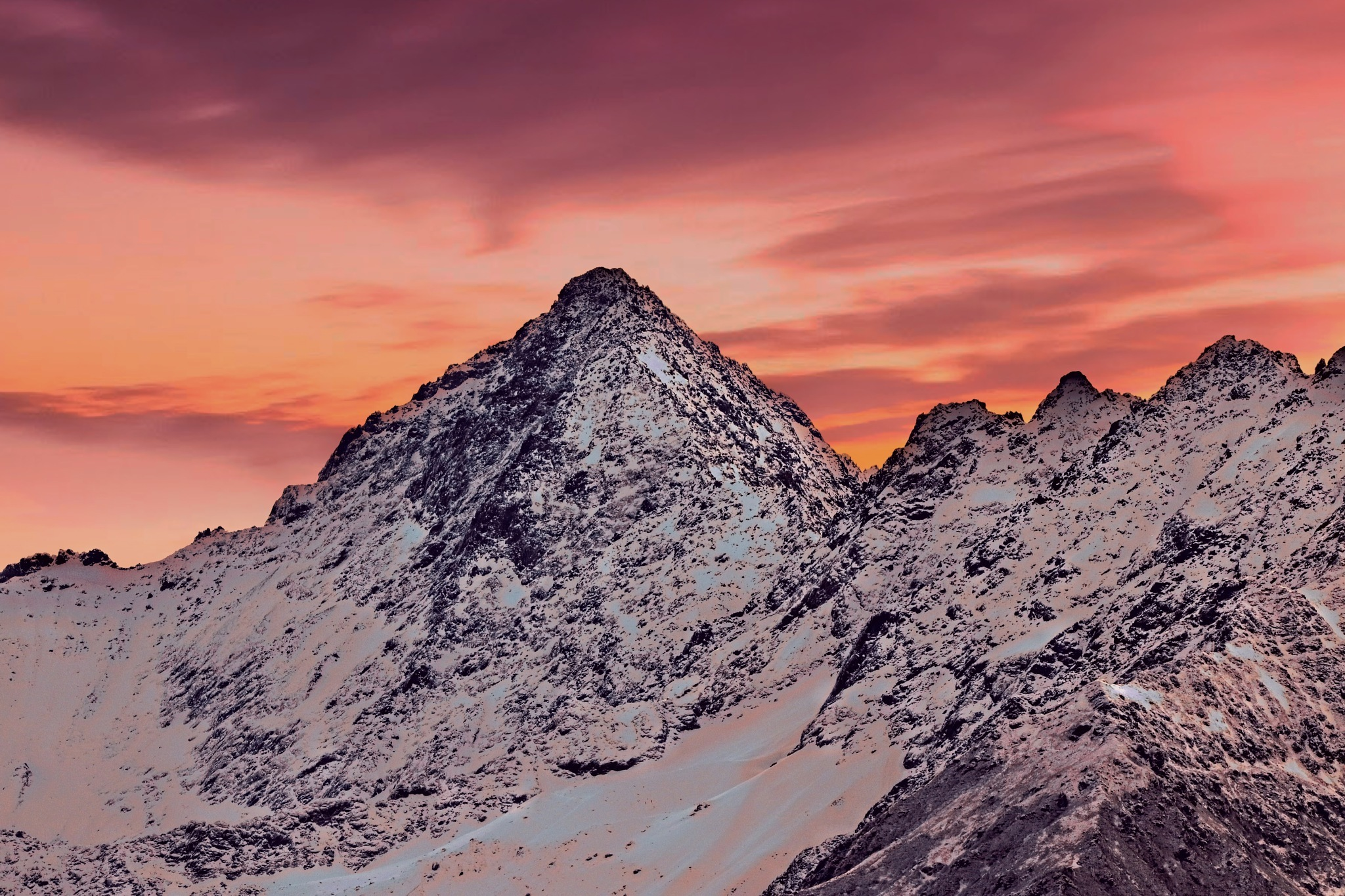 Evening mountains by Wesley
